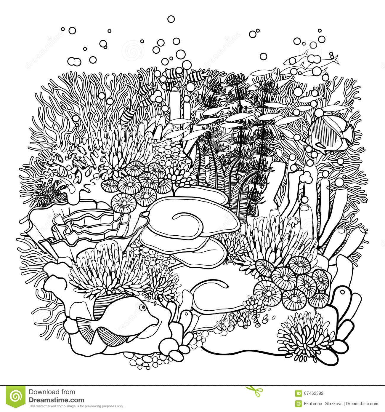 ocean plants coloring pages free - photo#25