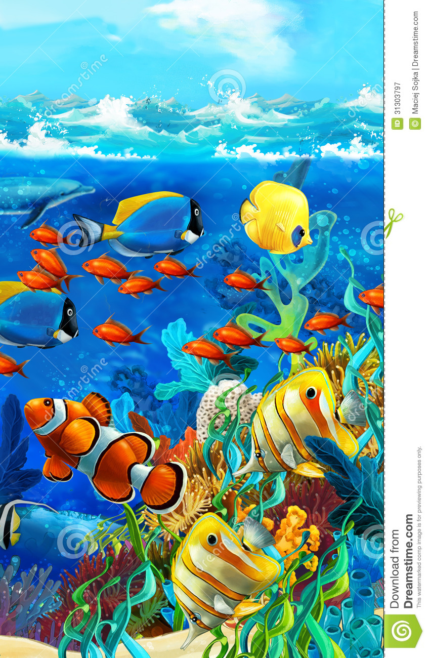 The Coral Reef - Illustration For The Children Royalty ...