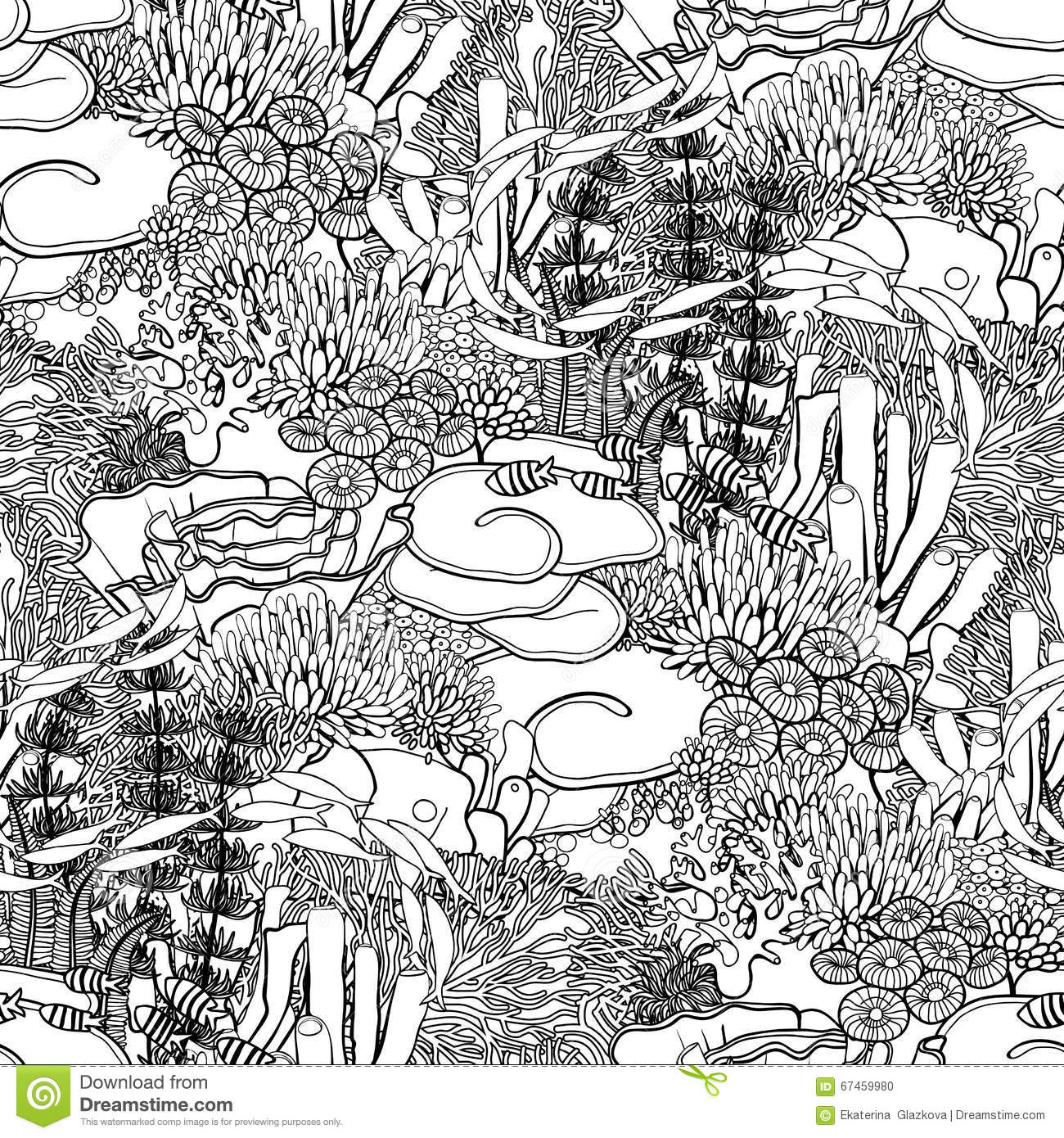 coral reef pattern stock vector image 67459980