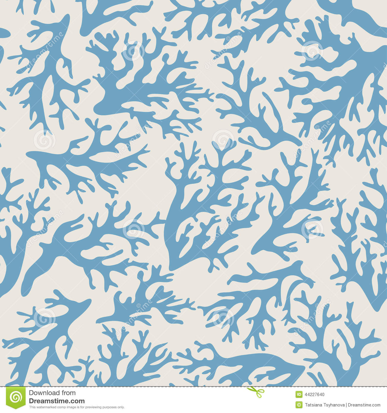 coral seashells seamless pattern in vintage style vector