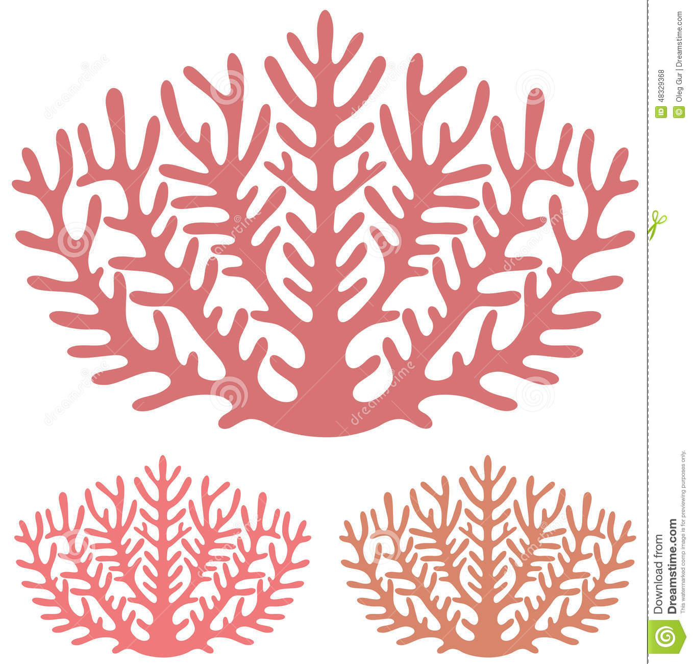 Coral Stock Vector - Image: 48329368