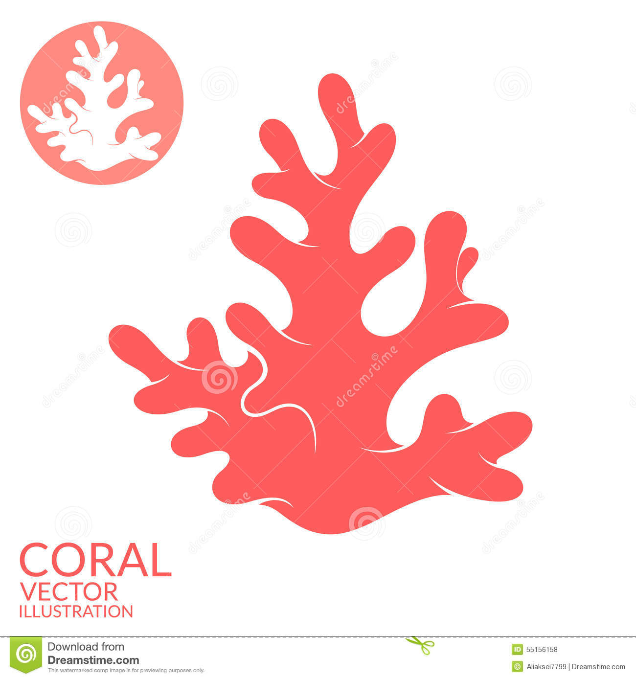 Coral Stock Vector - Image: 55156158