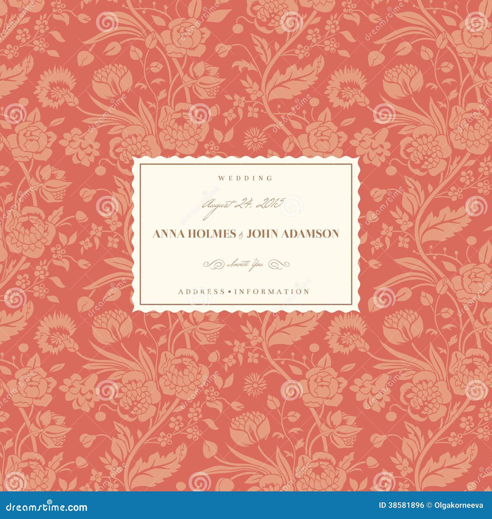 Z Coral Card Coral wedding card sto...