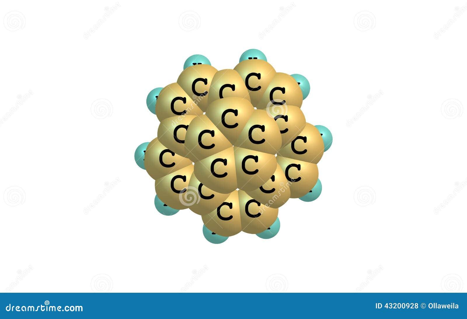Download Corannulene Molekyl Som Isoleras På Vit Stock Illustrationer - Illustration av folk, naturligt: 43200928