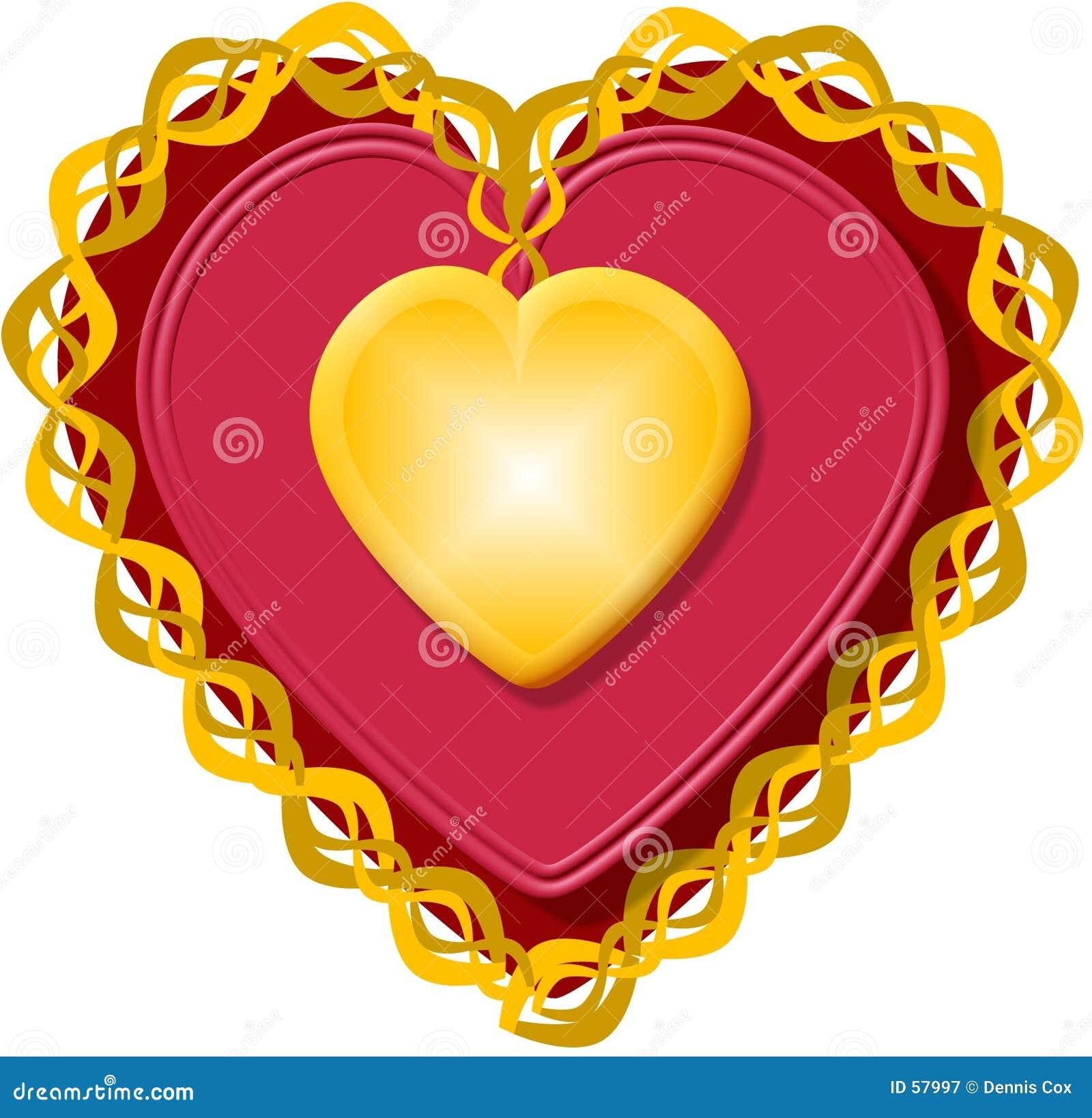 Corazón 3 de la tarjeta del día de San Valentín