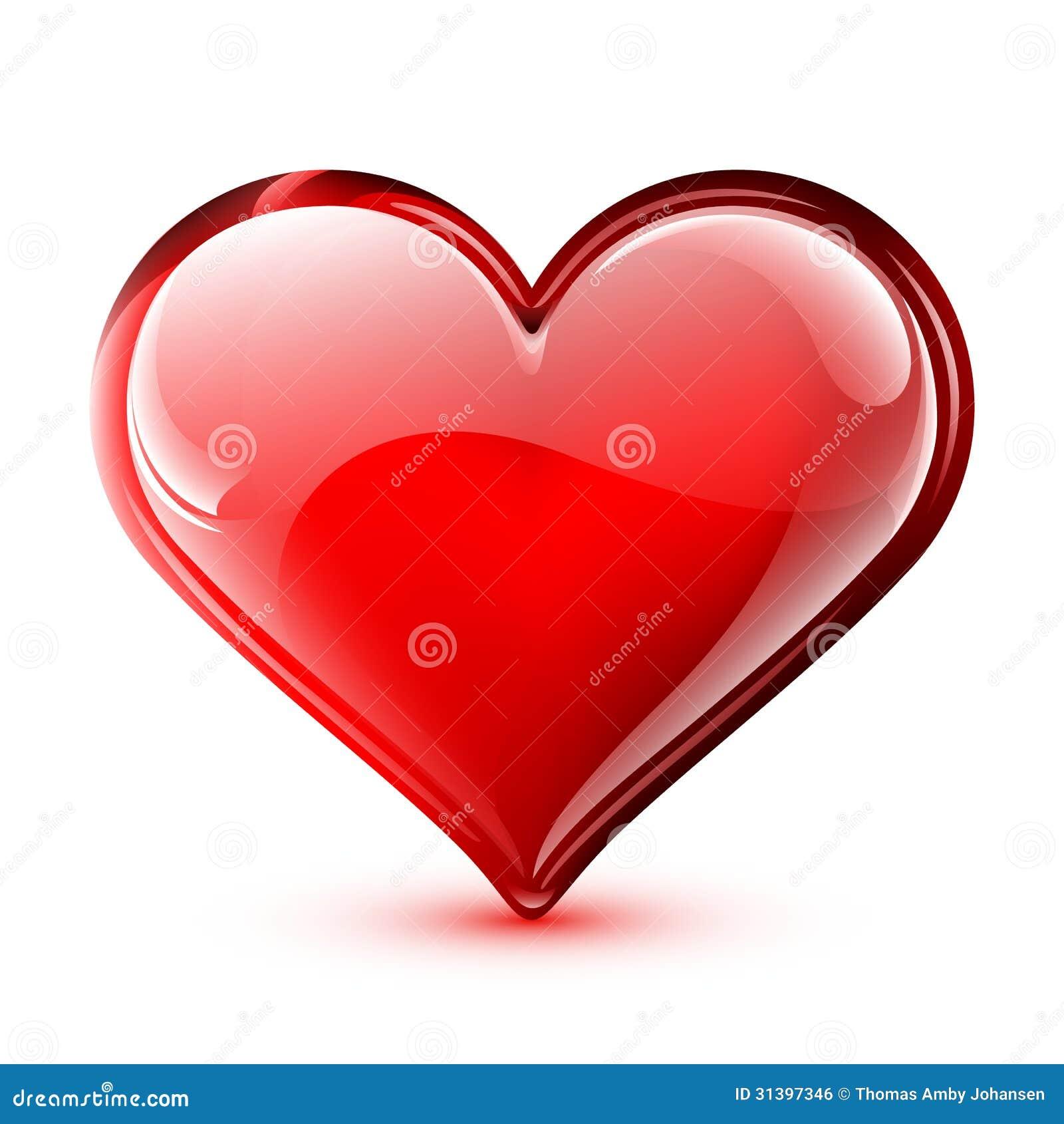 Corazón brillante del vector