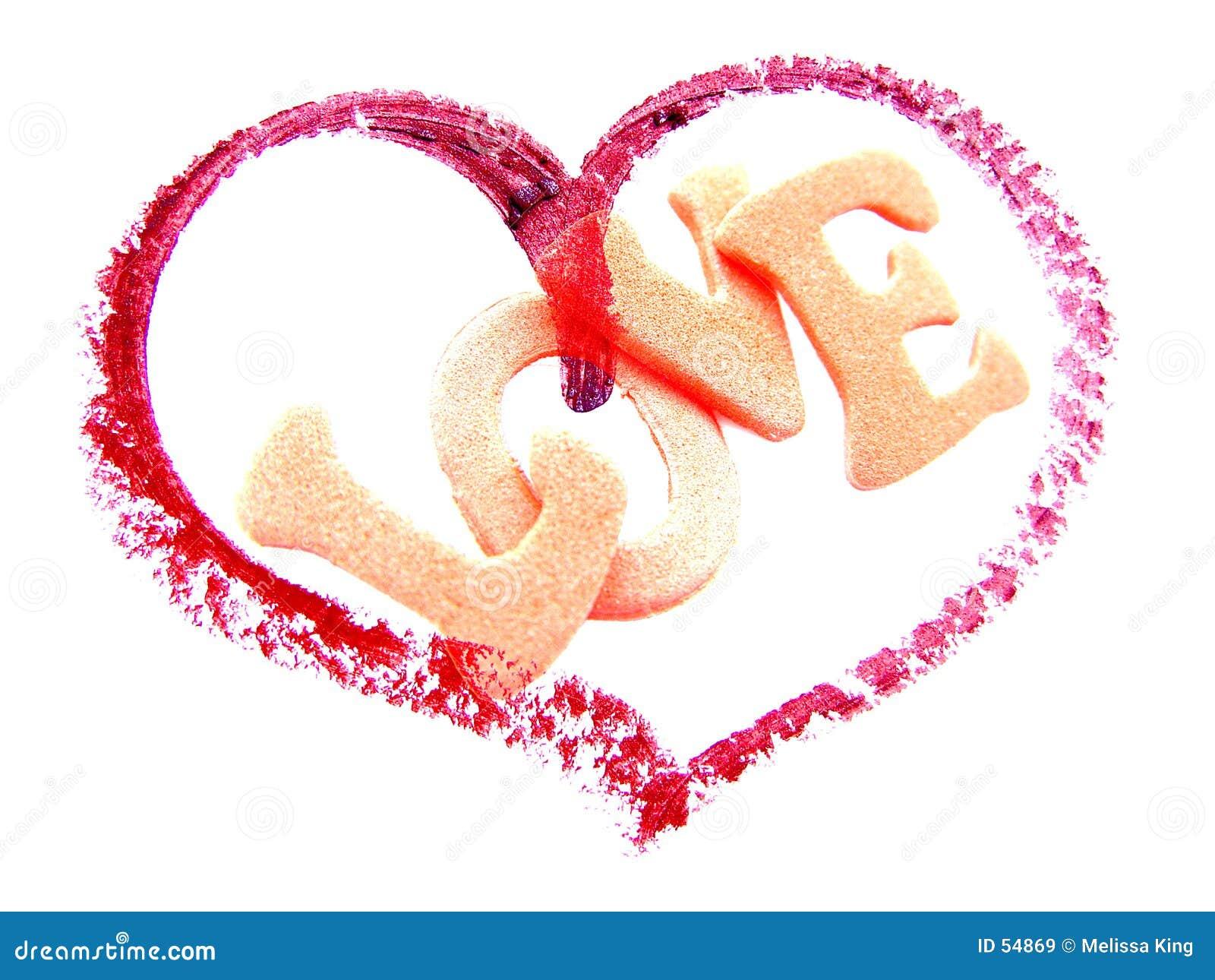 Corazón con amor de la palabra