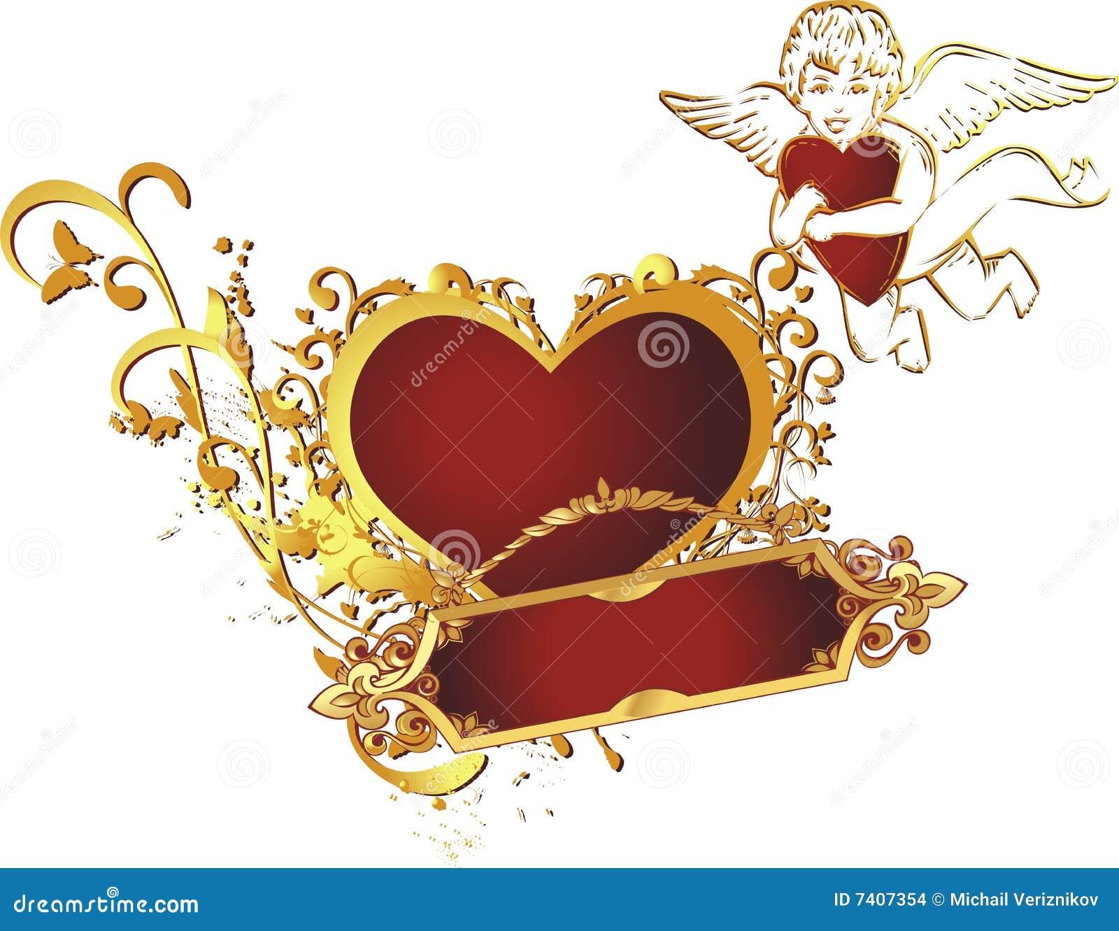 Corazón con el cupid