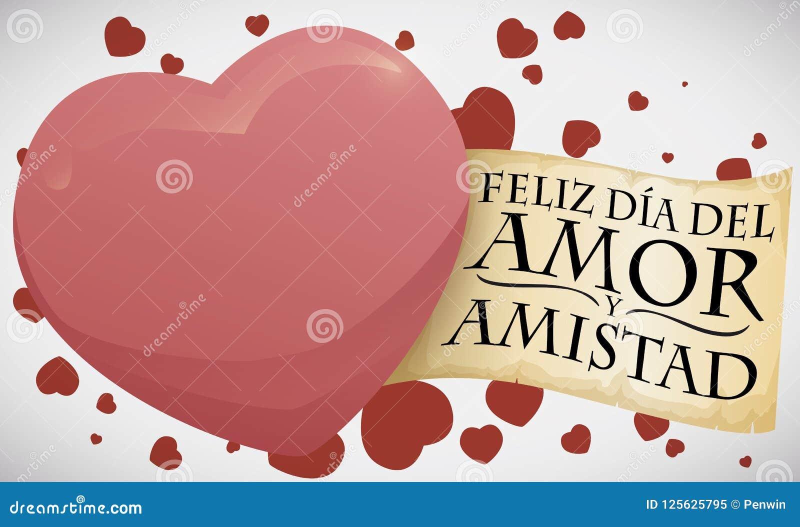 Corazon Con La Muestra De Celebrar El Dia De Amor Y De Amistad Ejemplo Del Vector Ilustracion Del Vector Ilustracion De Dia Corazon 125625795