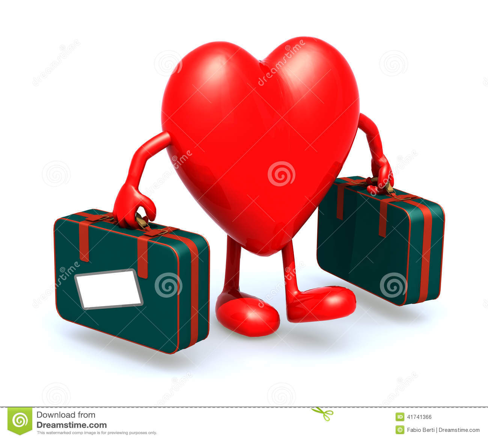 corazon en la maleta letra