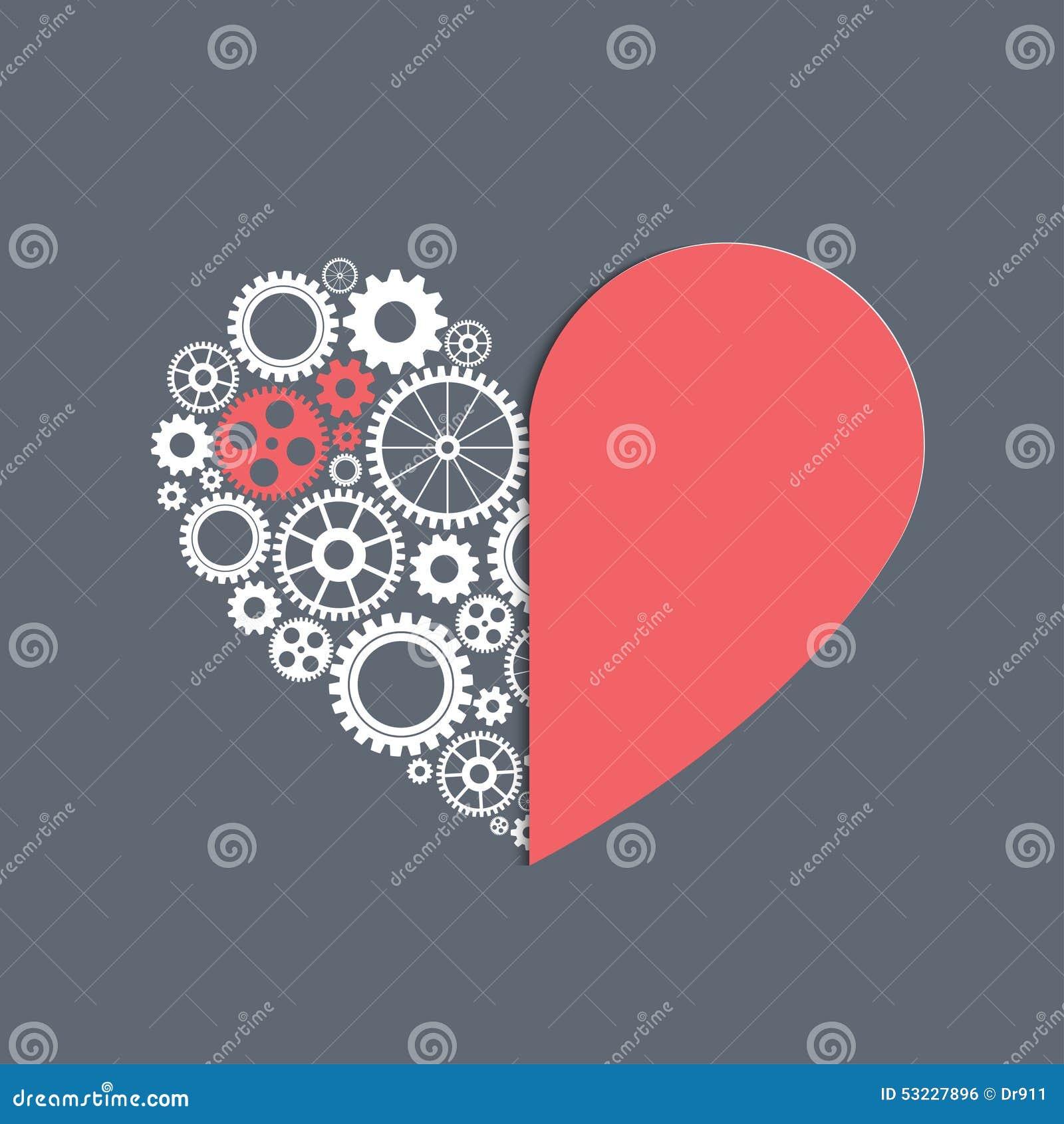 Corazón con los engranajes