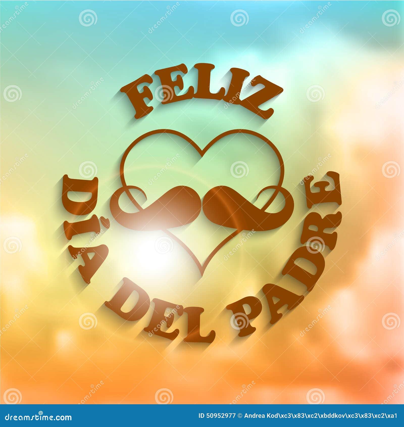 Tarjeta De Felicitación De Feliz Dia Del Padre Father Day En Español ...