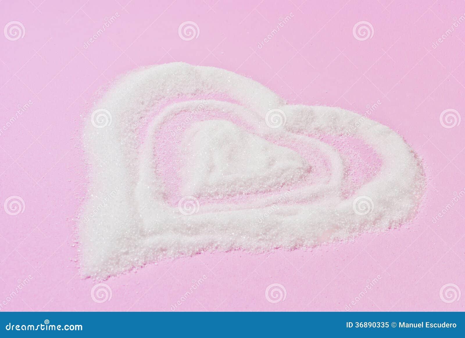 Download Corazón De Azucar, Fondo Rosa. Immagine Stock - Immagine di romanzesco, zucchero: 36890335