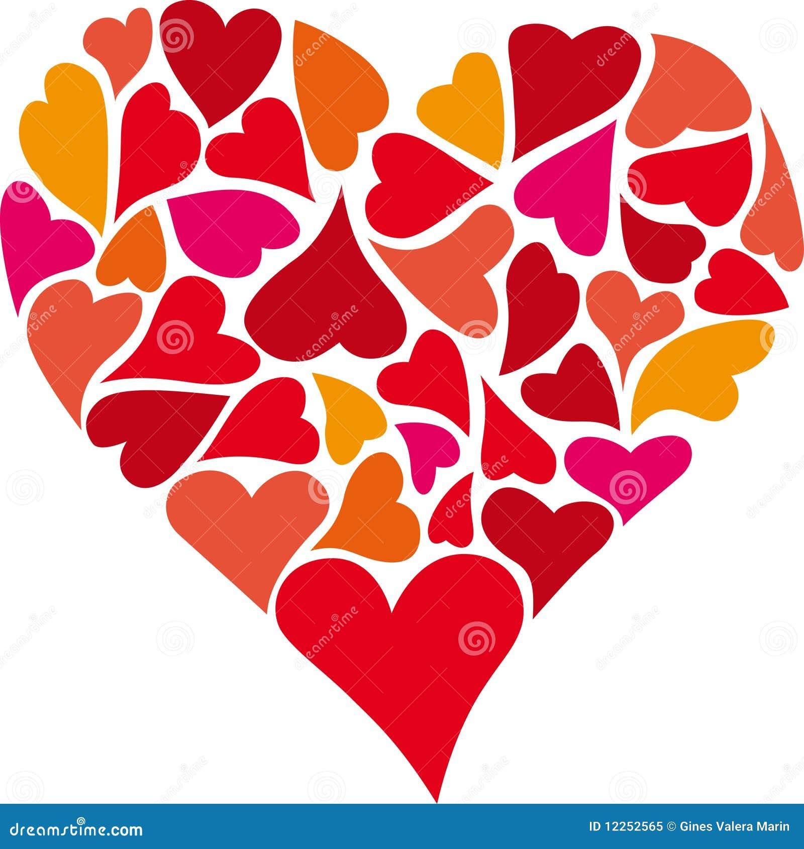 Coraz n de corazones ilustraci n del vector ilustraci n for Fotos del corazon