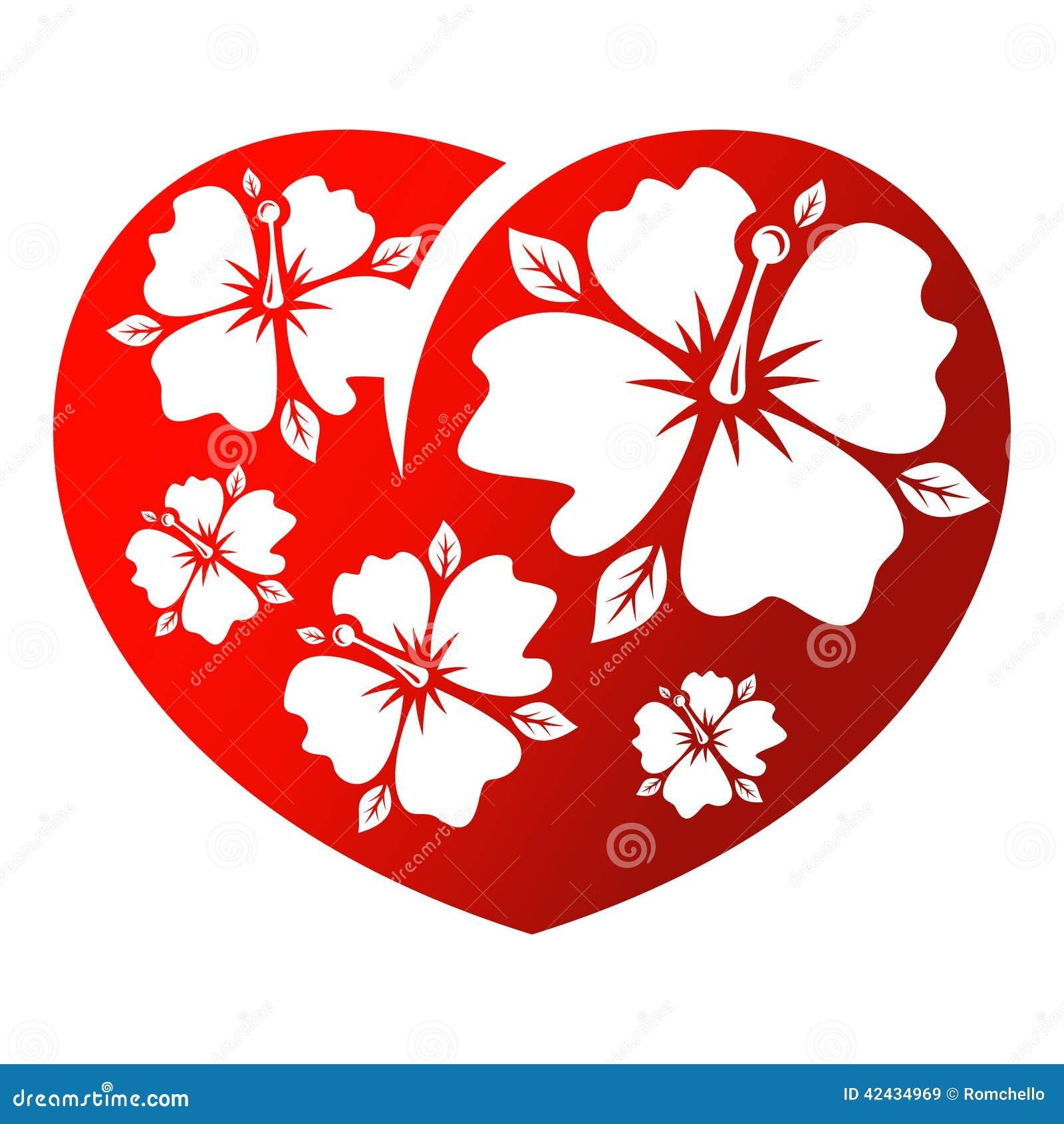 Corazón de la flor
