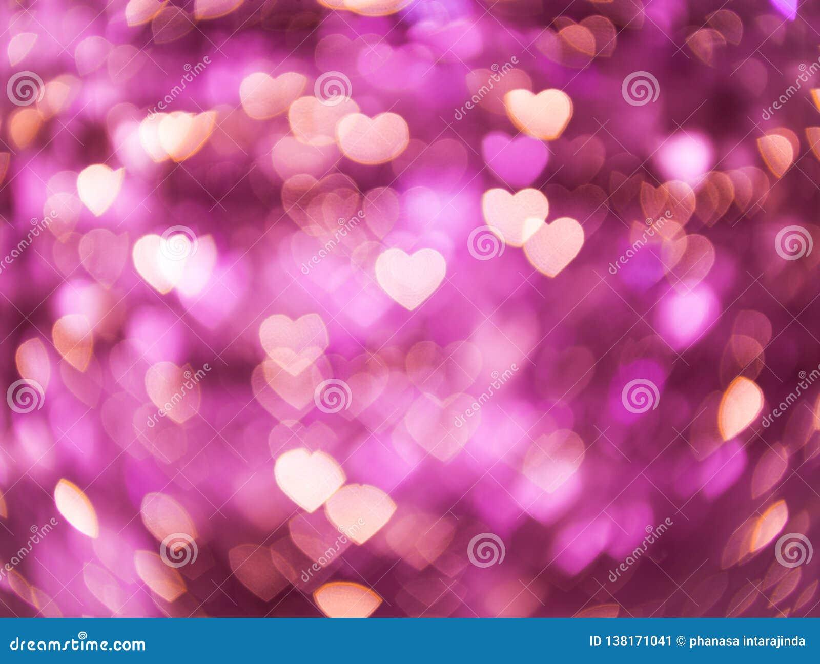 Corazón de la forma de Bokeh, concepto del día de San Valentín del amor