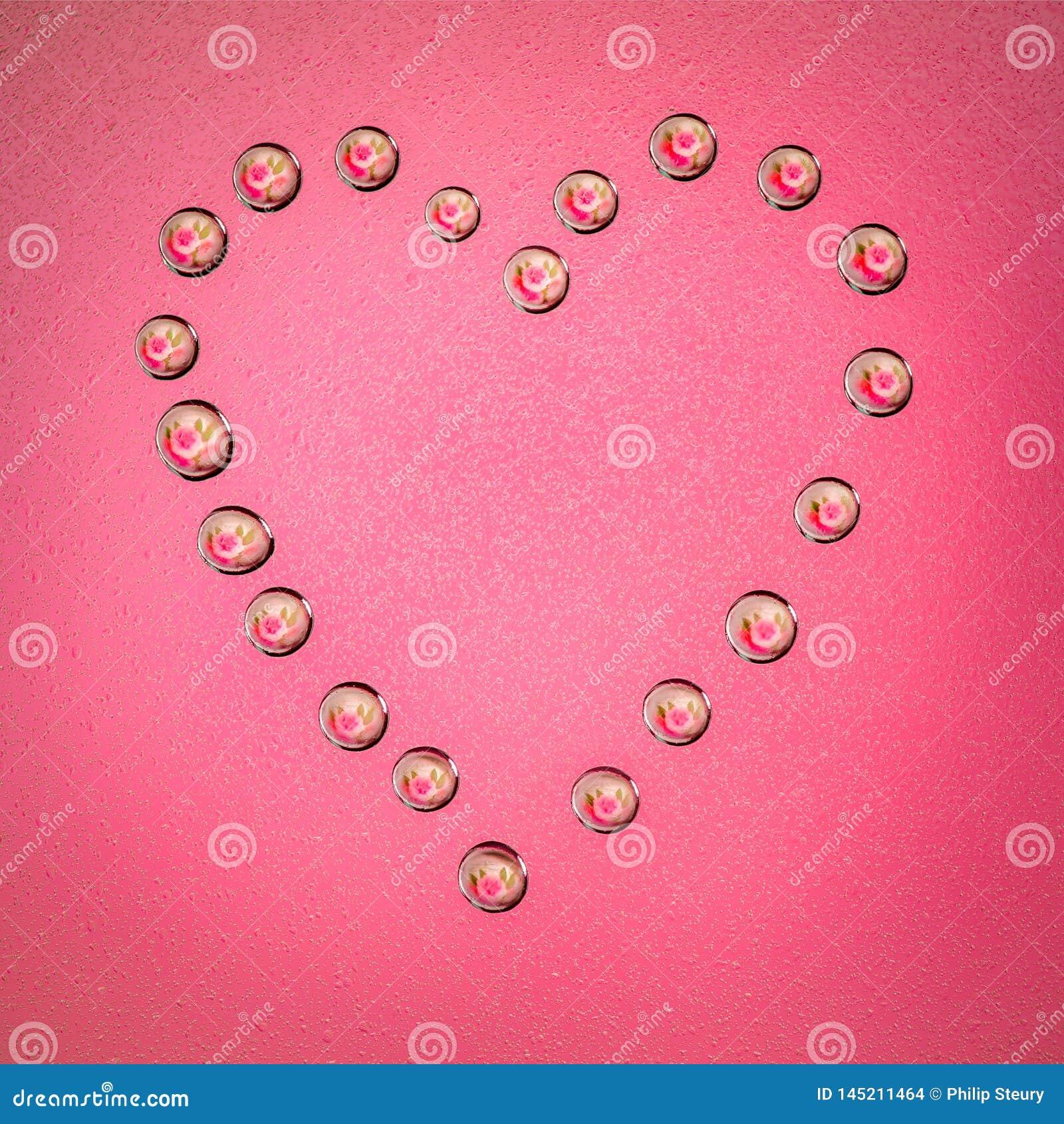 Corazón de la gotita de agua