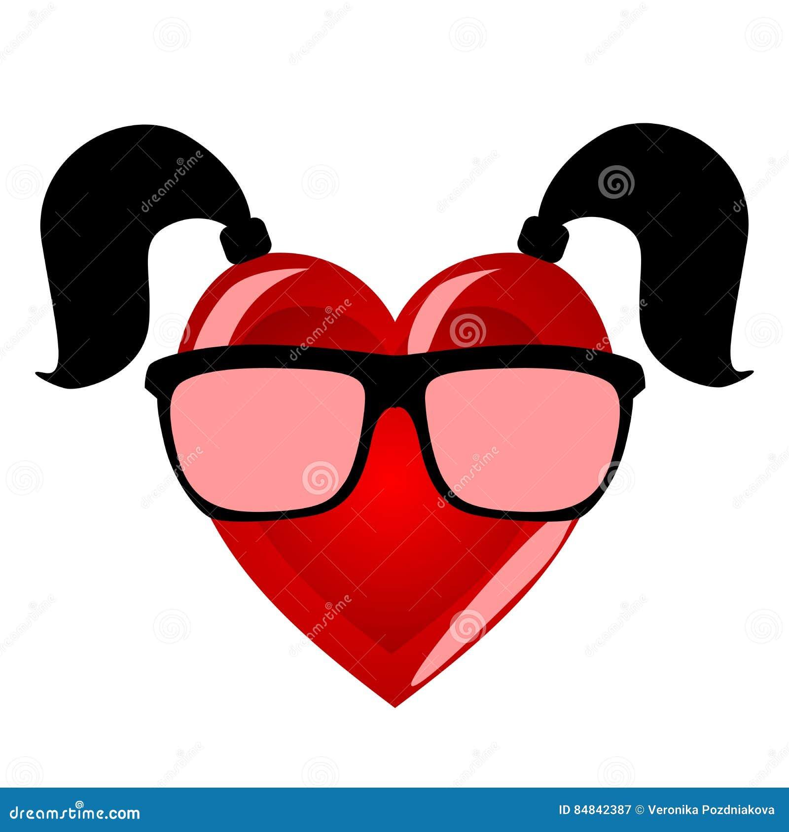 Corazón De La Srta. Carácter Colorido Que Personifica A Una Mujer En ...
