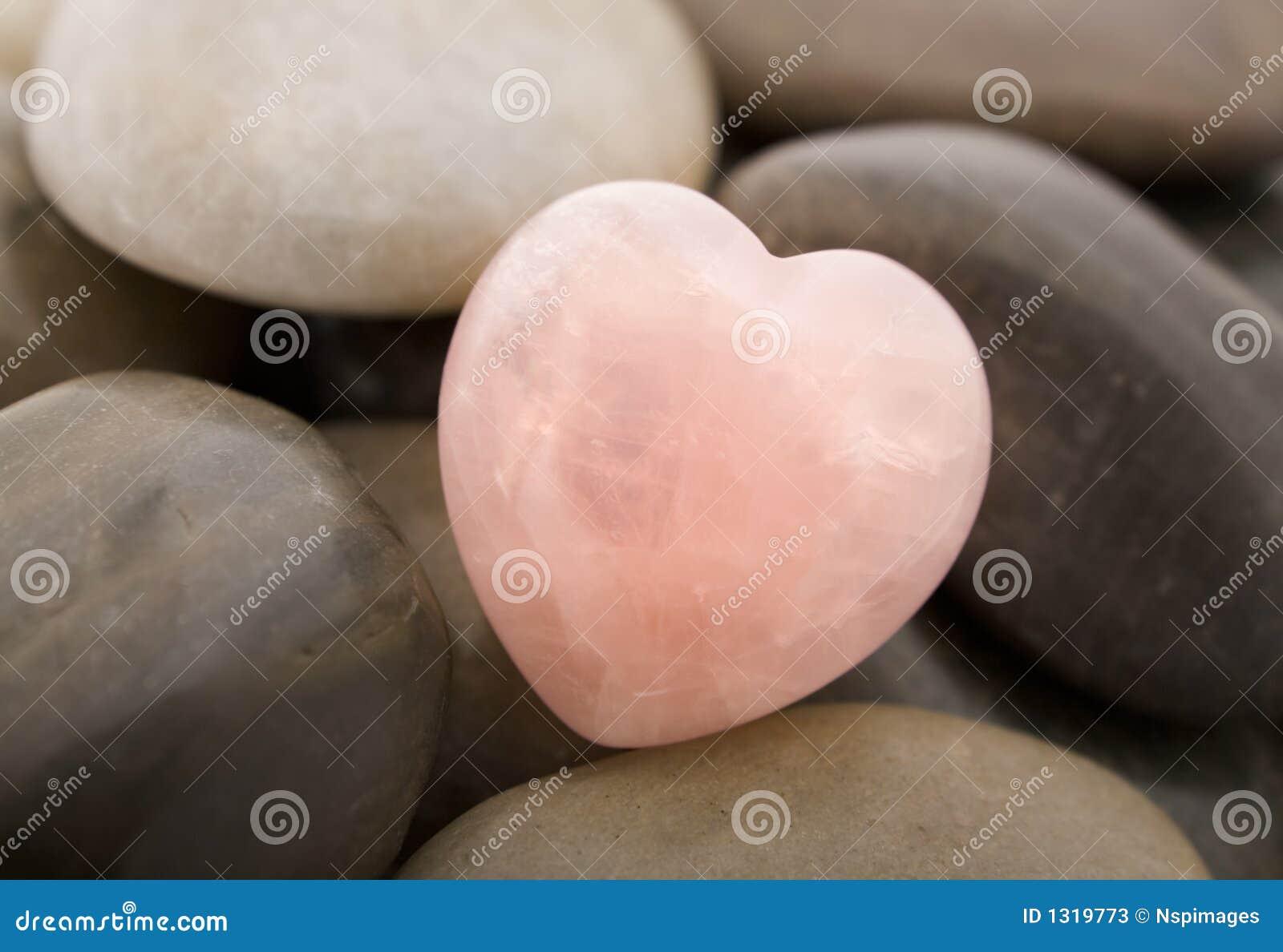 Corazón del cuarzo de Rose