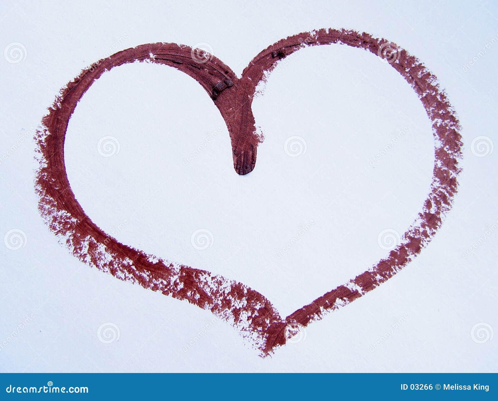 Corazón del lápiz labial