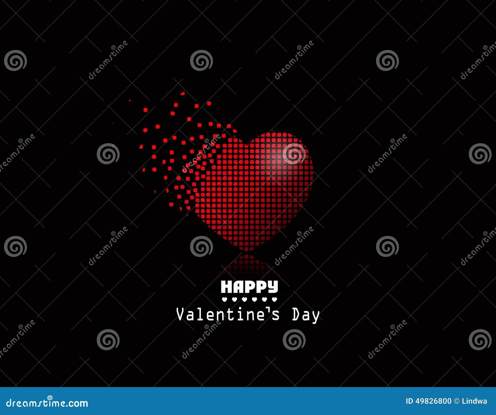 Corazón del pixel del vector, fondo de Valentine Day