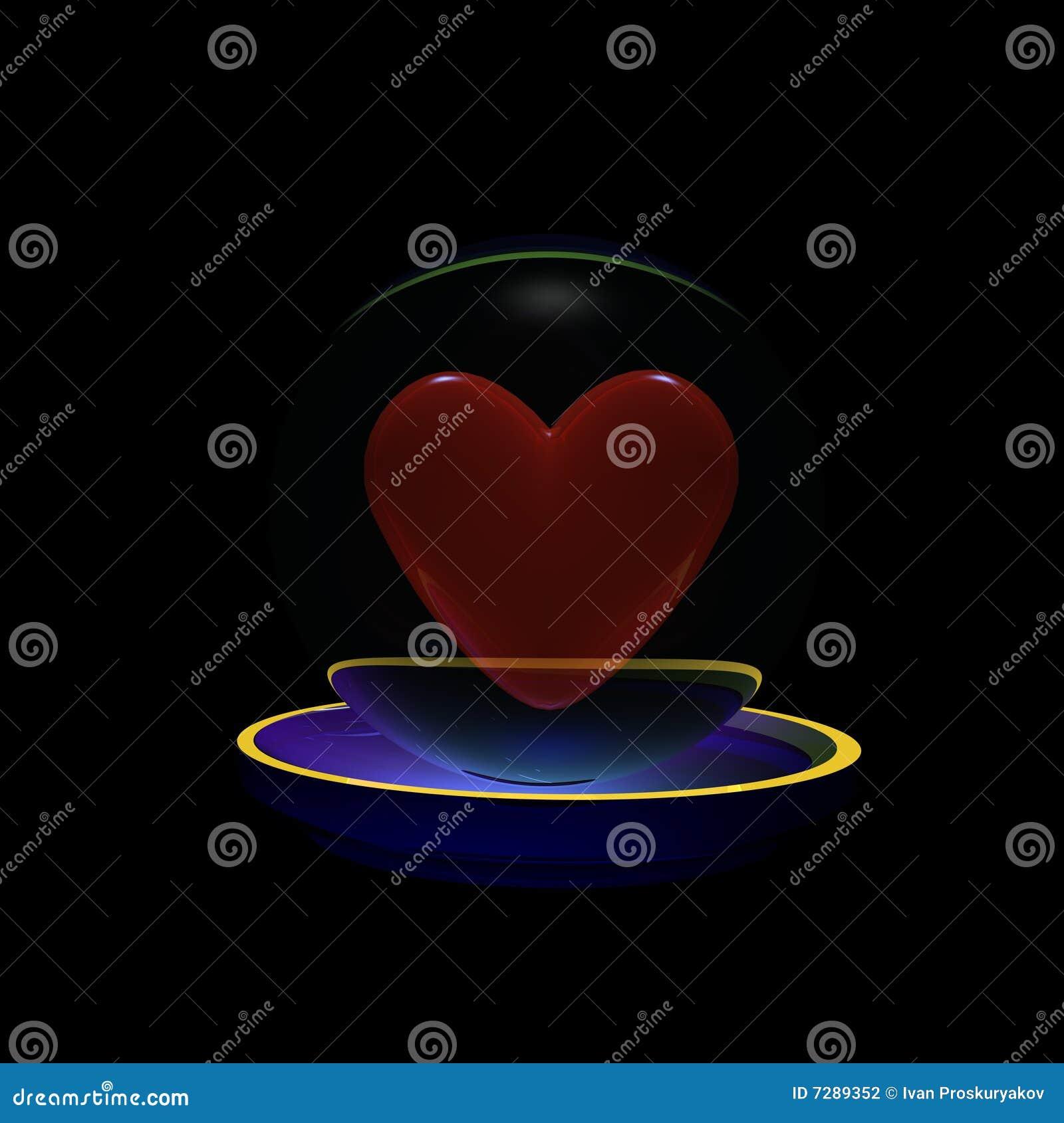 Corazón en una esfera