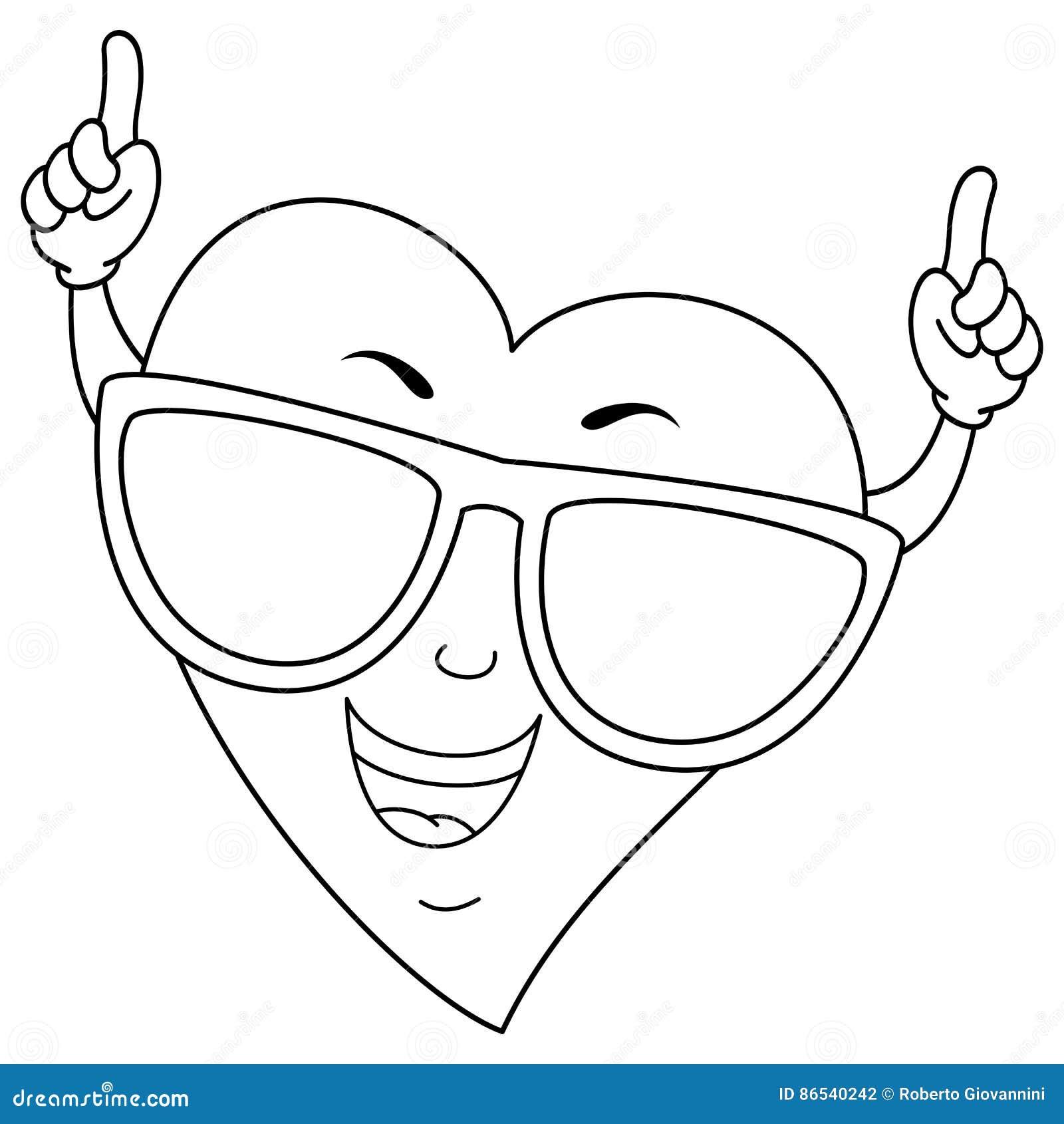Fantástico Diseño De Corazón Fresco Para Colorear Modelo - Enmarcado ...