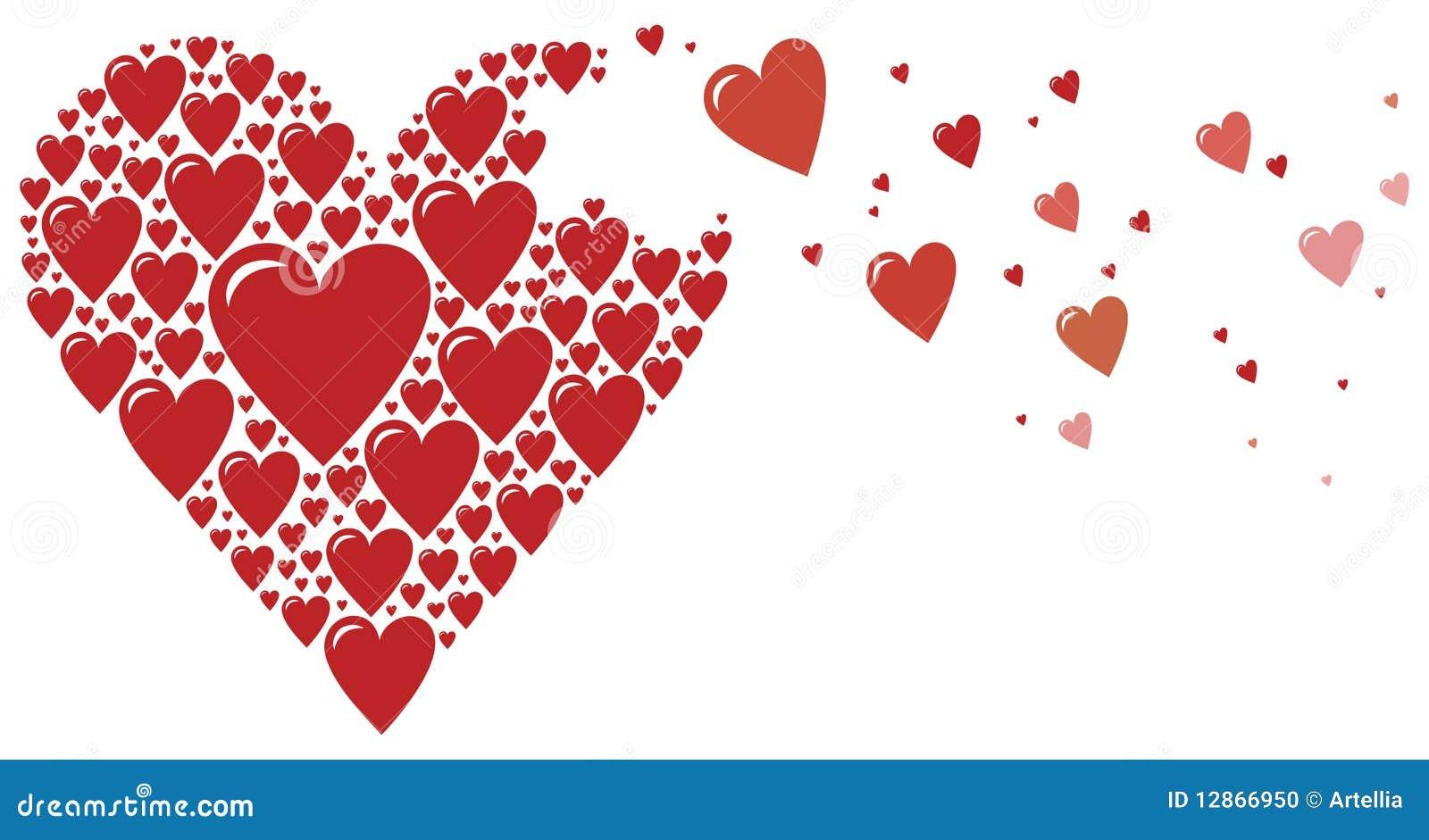 Corazón Grande Hecho De Pequeños Corazones Ilustración Del Vector