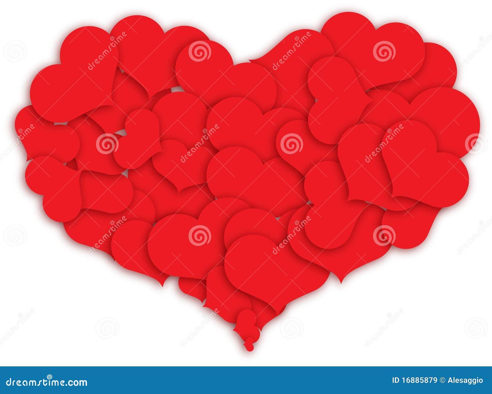 Corazón Hecho De Corazones Ilustración Del Vector Ilustración De