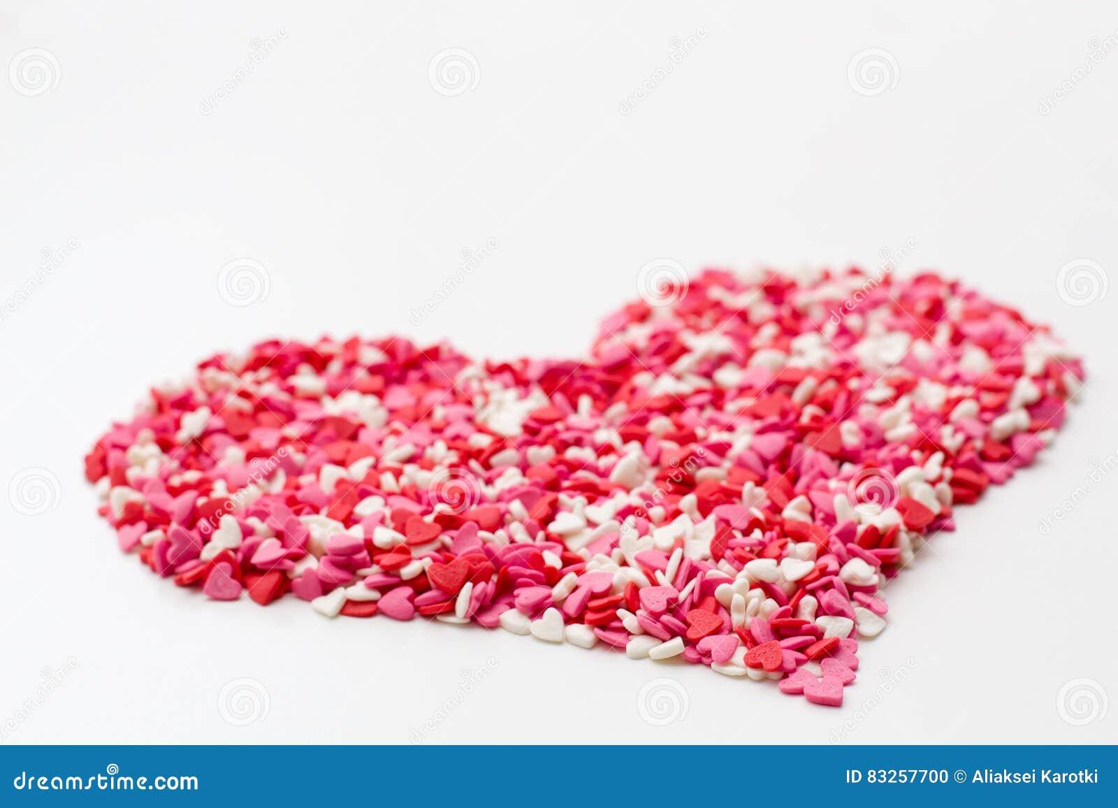 Fotografía De Feliz Día De San Valentín Corazón Hecho De Corazones Y