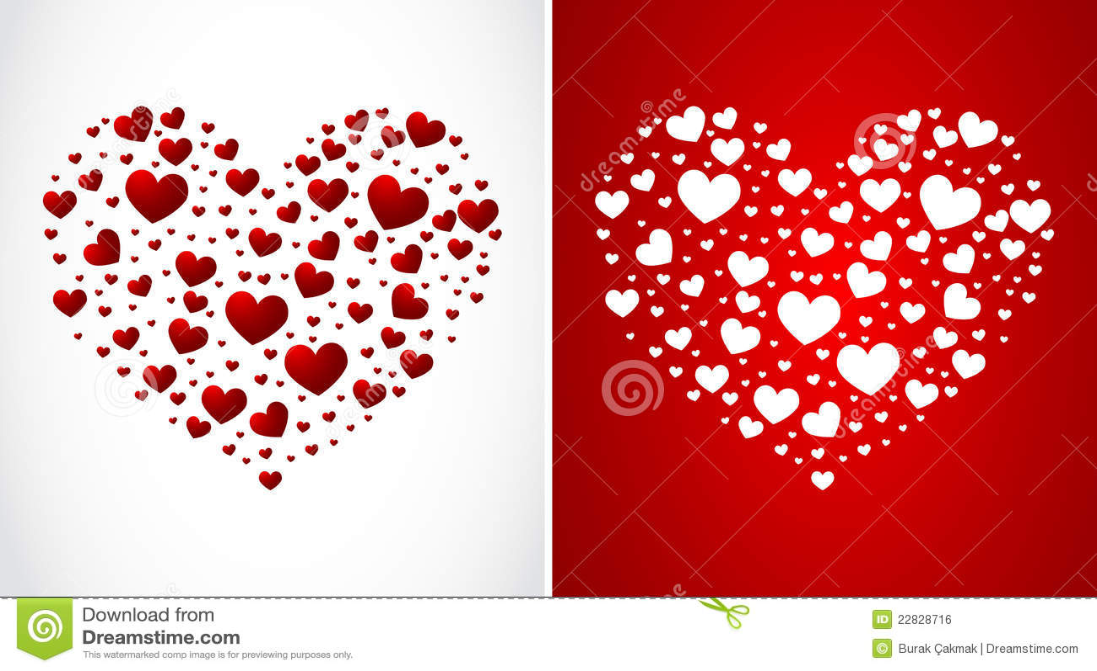 Corazón Hecho De Pequeños Corazones Ilustración Del Vector
