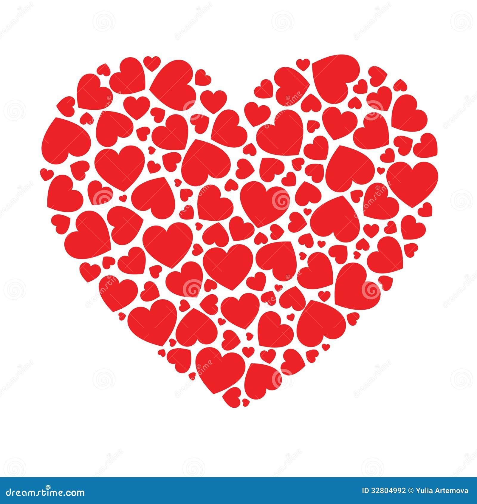 Corazón Hecho De Pequeños Corazones Stock De Ilustración