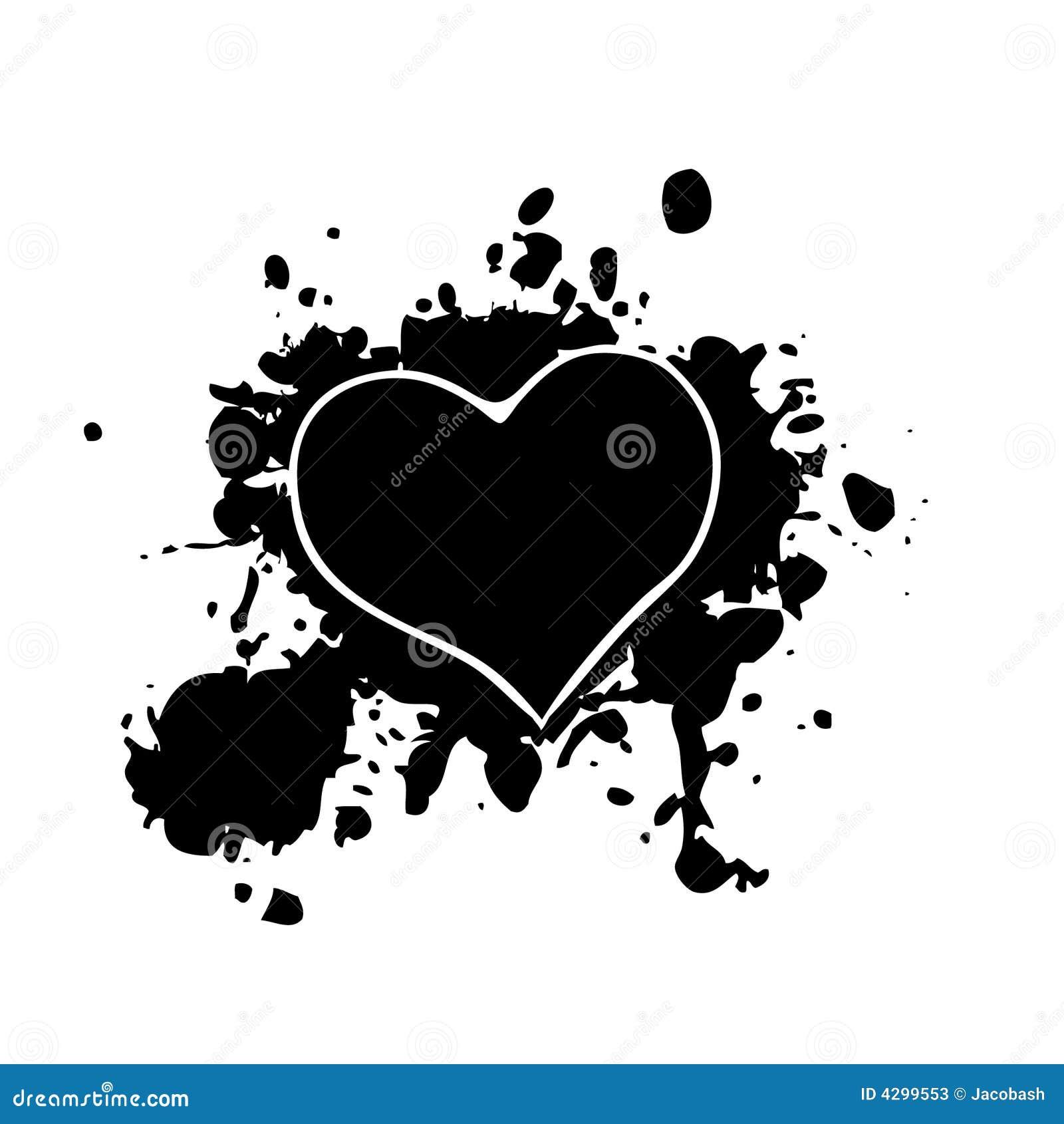 Corazón Negro Ilustración Del Vector Ilustración De Malo 4299553