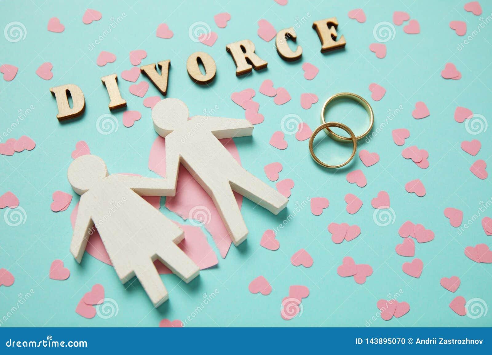 Coraz?n quebrado y dos anillos de oro Divorcio, amor y conflicto de los pares de la gente