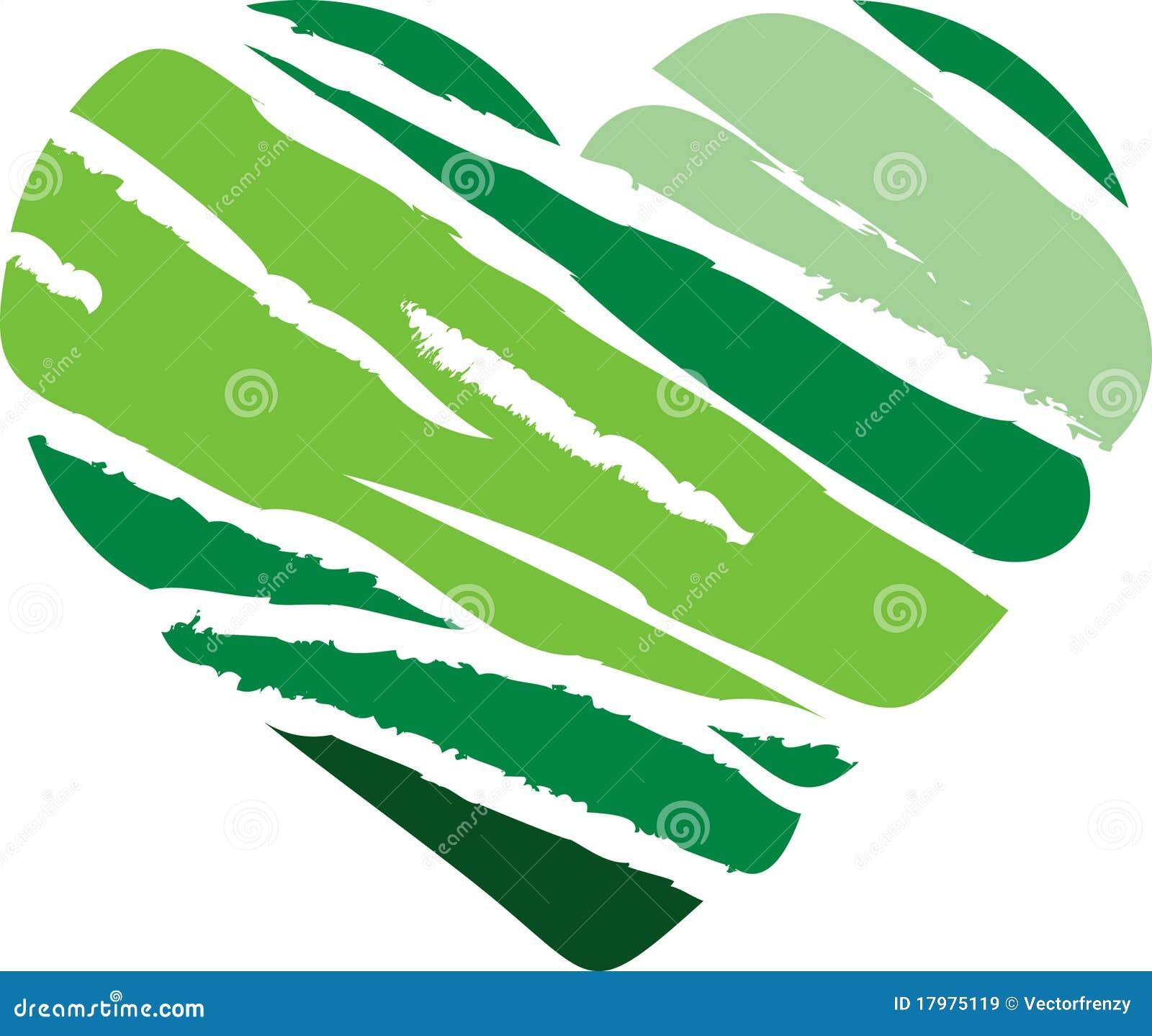 Corazón verde de la raya