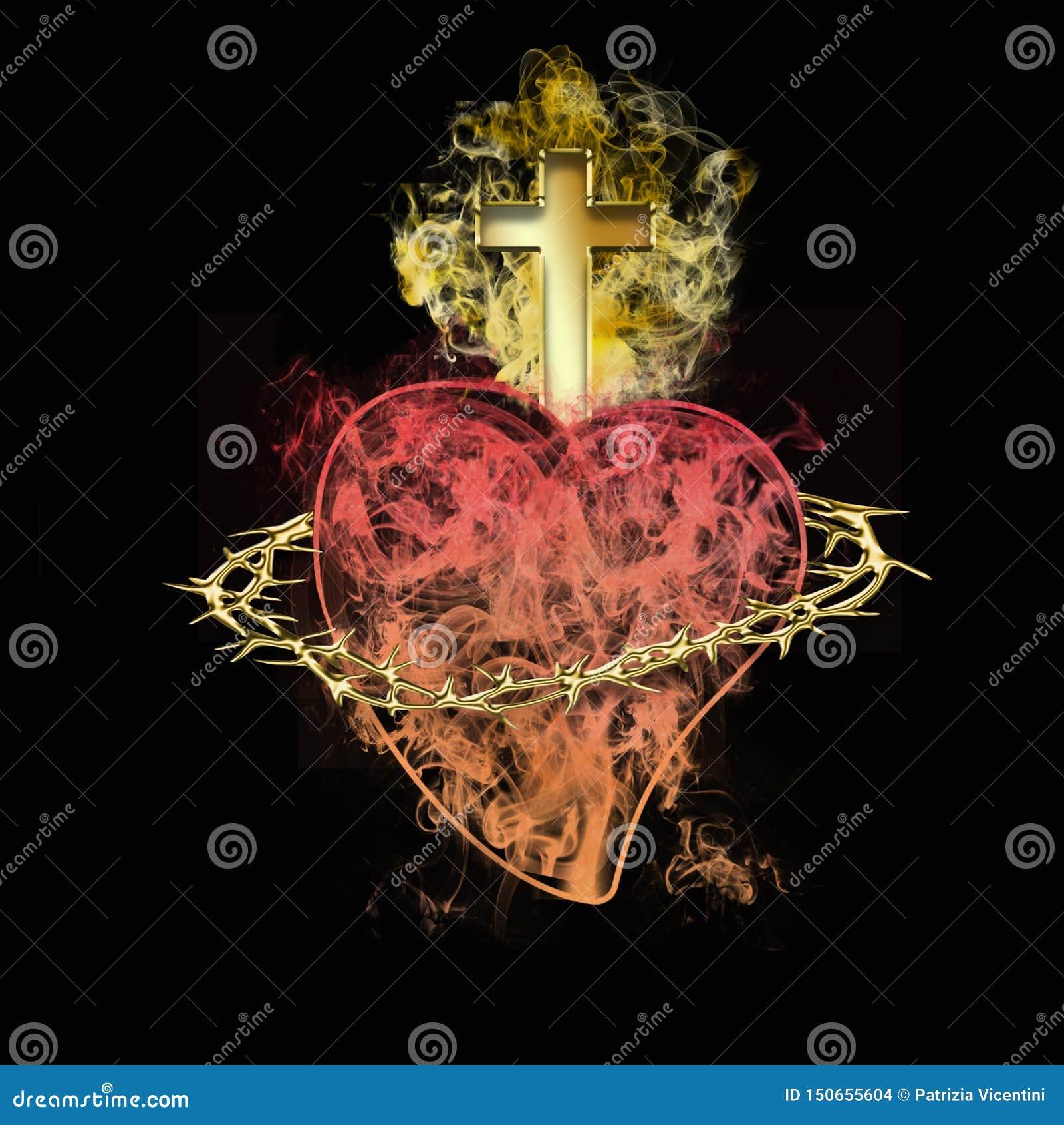 Coraz?n sagrado de Jes?s S?mbolo cristiano