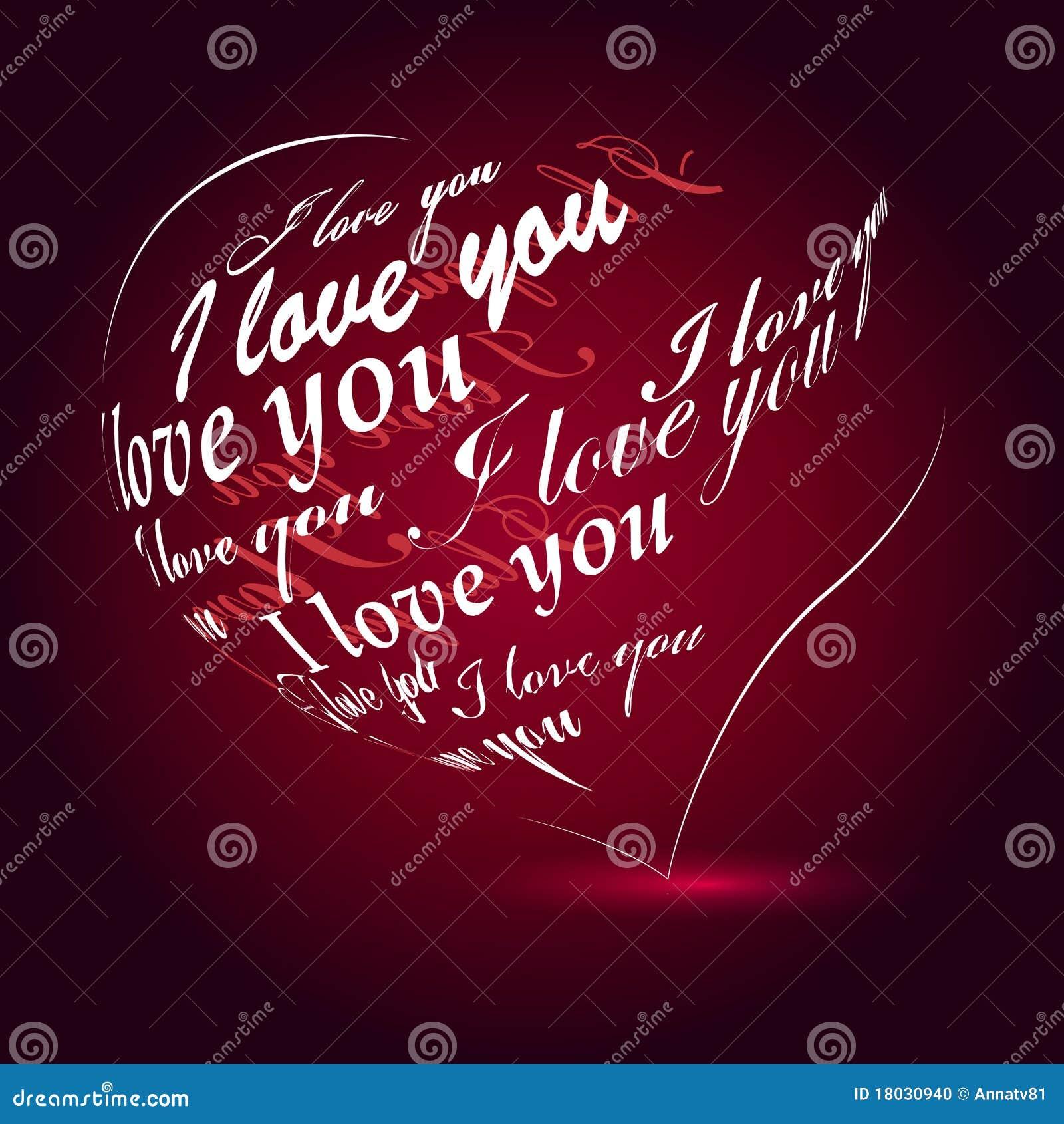 Te Amo En Corazón Rayado En El Papel Viejo Beige Imágenes