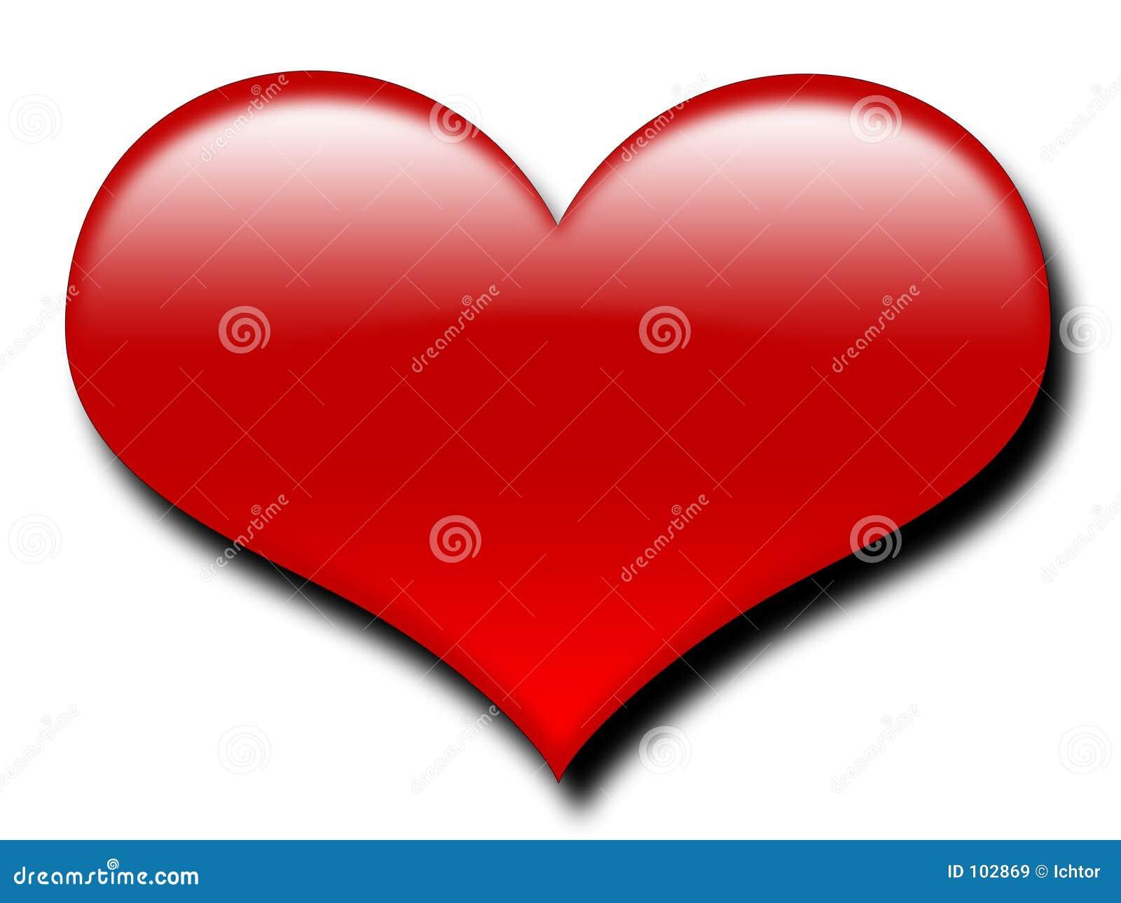 Corazón Rojo Grande Imágenes De Archivo Libres De