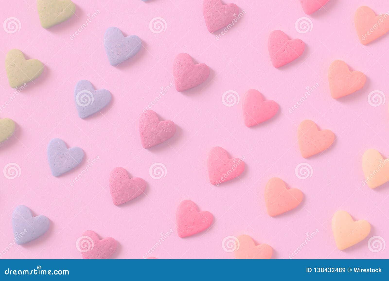 Corazones coloridos del caramelo