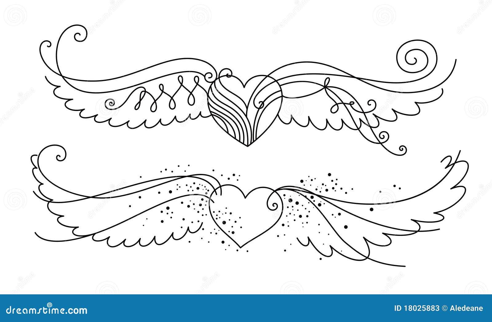 Corazon con espada y alas - Imagenes de Corazones