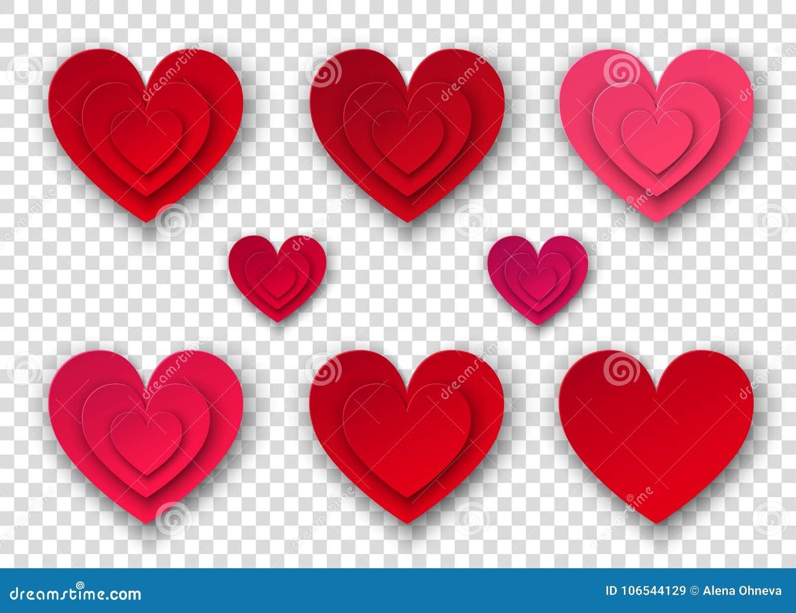 Corazones Con Fondo Transparente Heart Imágenes De