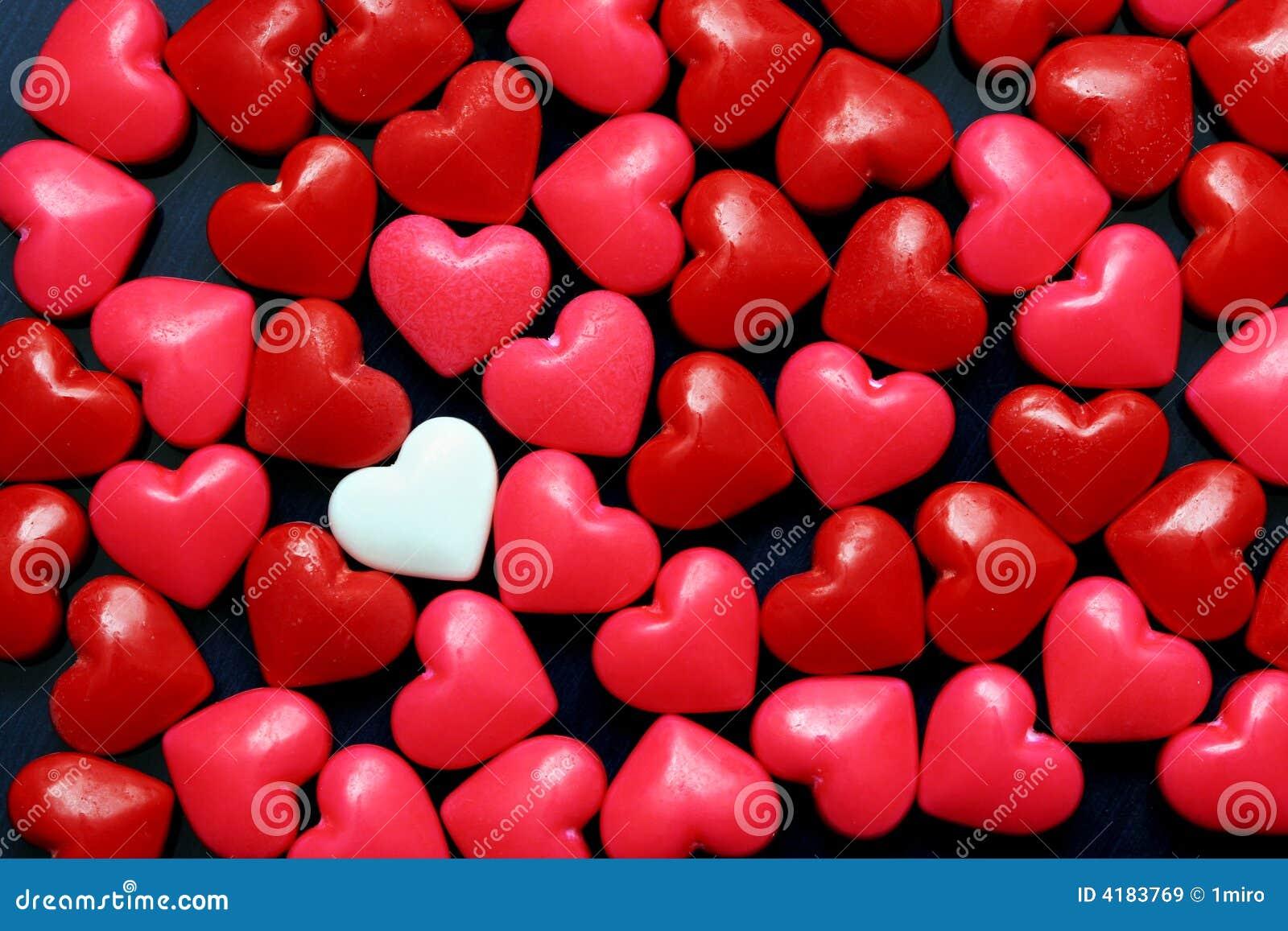 Corazones del caramelo imagen de archivo. Imagen de romance - 4183769