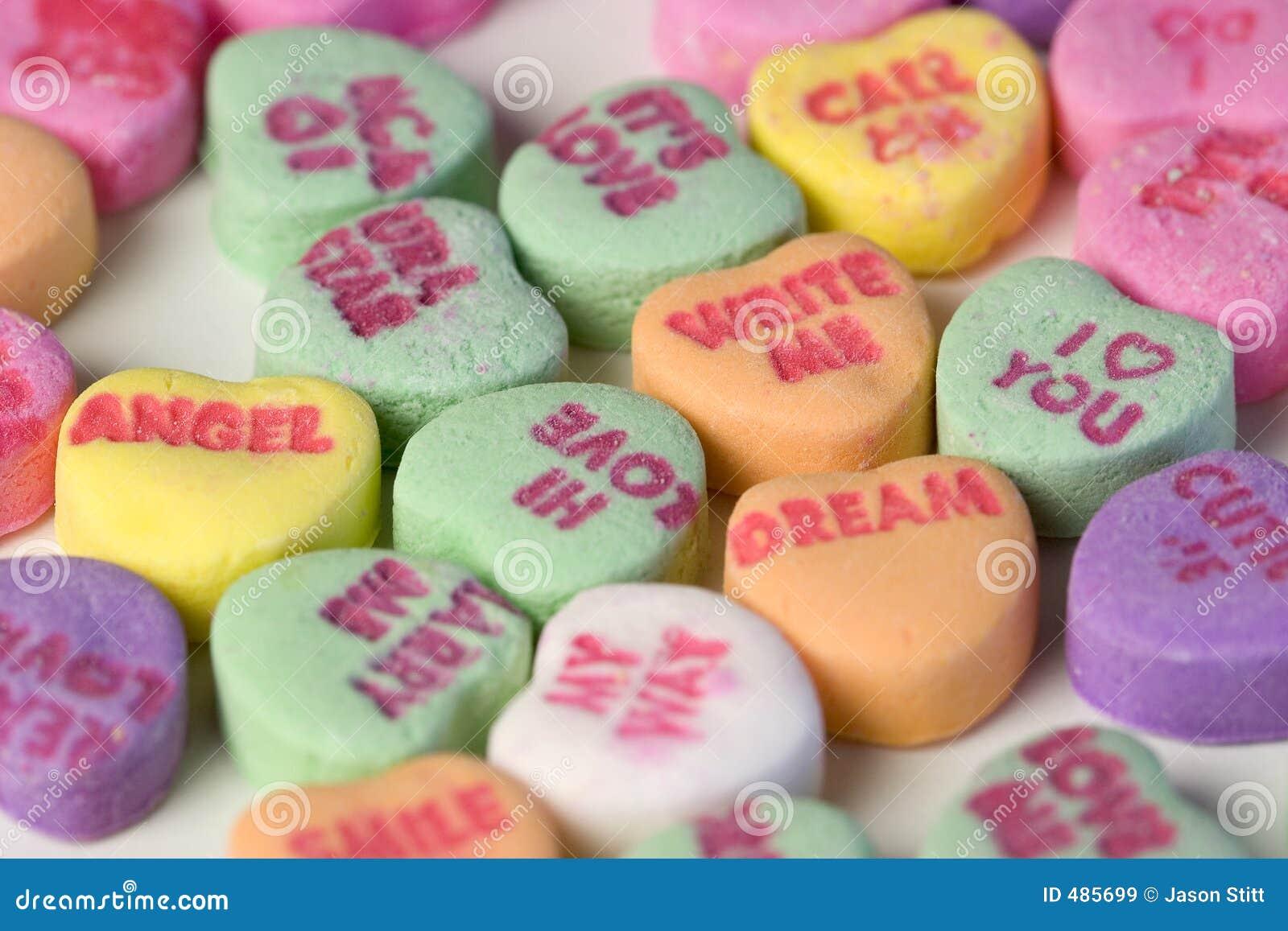 Corazones del caramelo imagen de archivo. Imagen de valentine - 485699