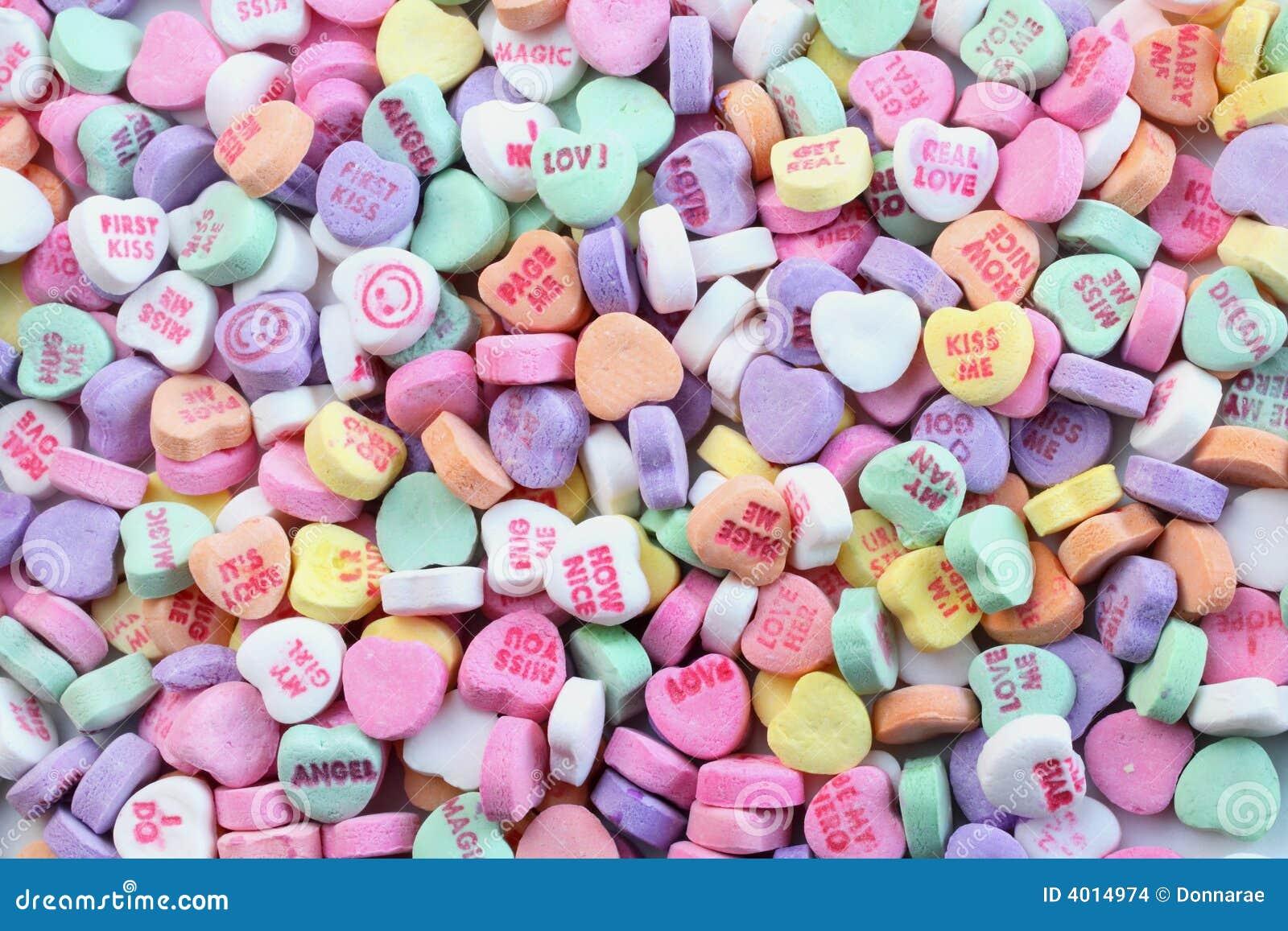 Corazones Del Caramelo Del Día De Tarjetas Del Día De San Valentín ...