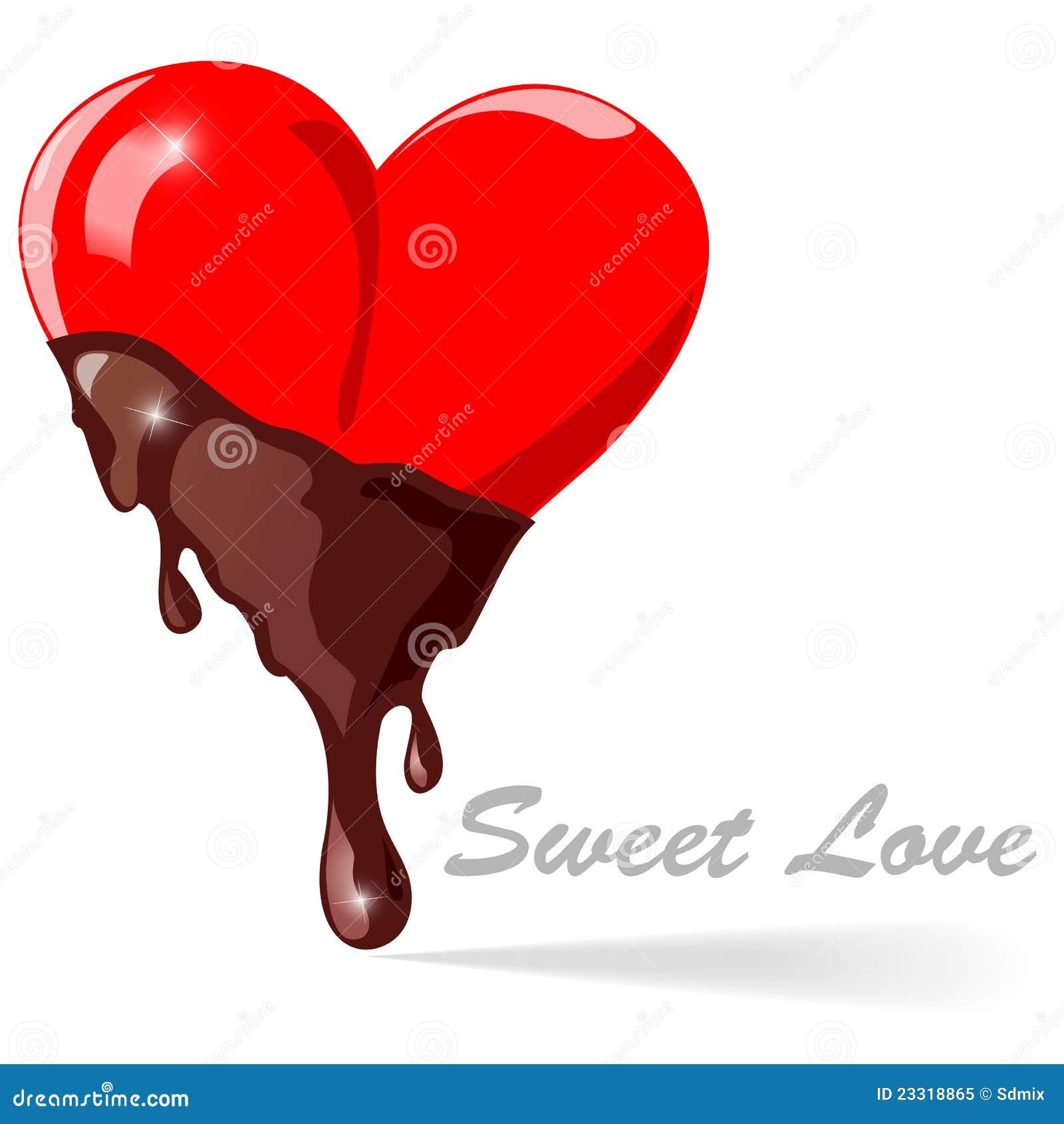 Corazones del chocolate - ilustración del vector