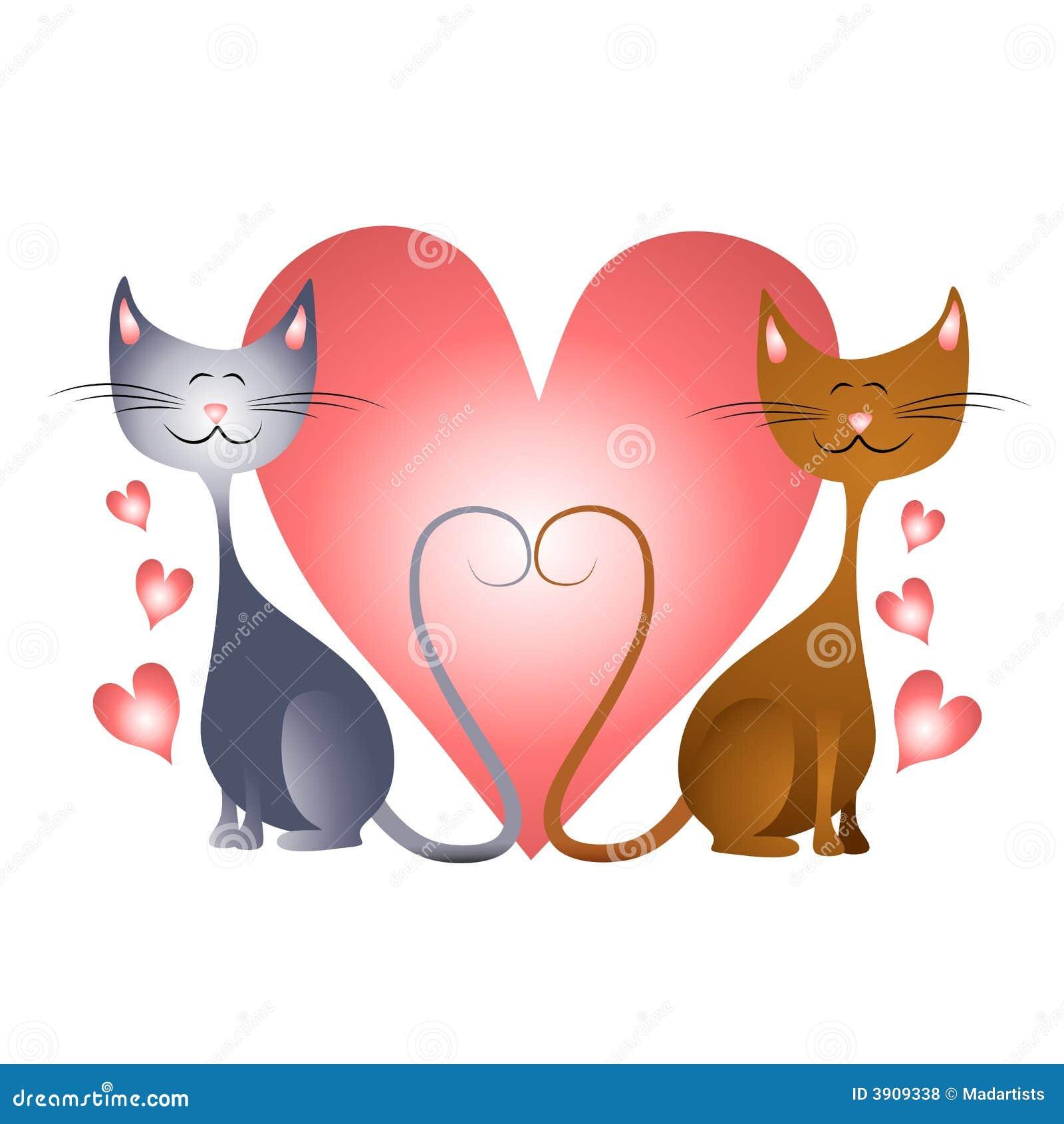 Corazones Del Día De Tarjeta Del Día De San Valentín Con