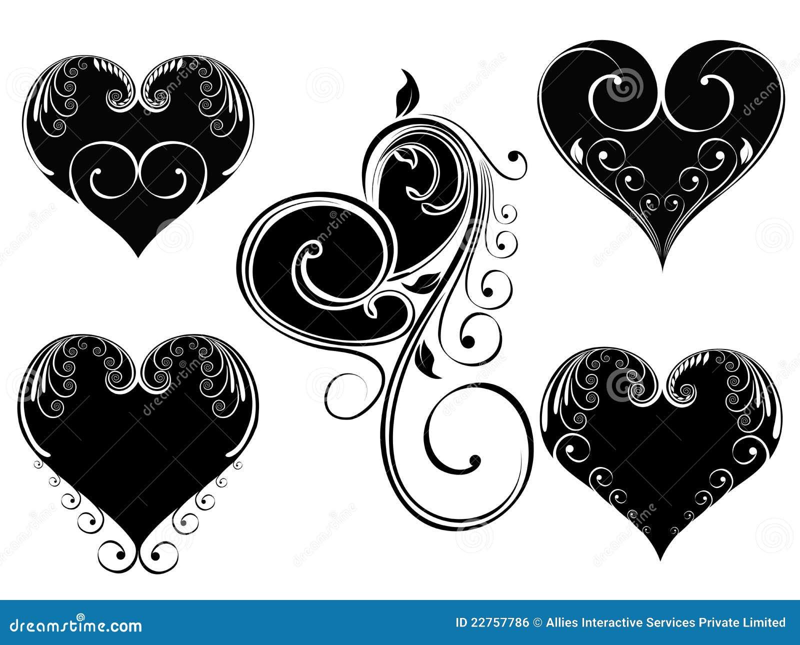 corazones de amor blanco y negro. Black Bedroom Furniture Sets. Home Design Ideas