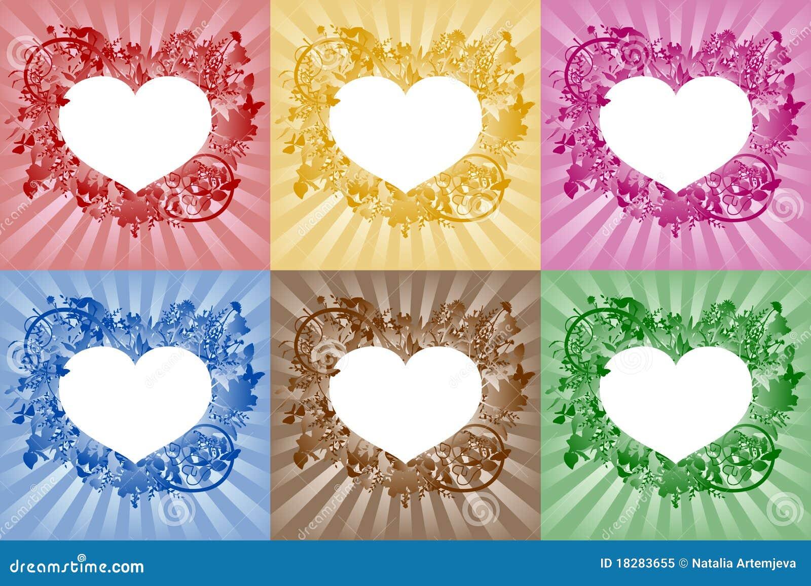 Corazones marcos para el texto foto de archivo libre de - Marcos de corazones para fotos ...