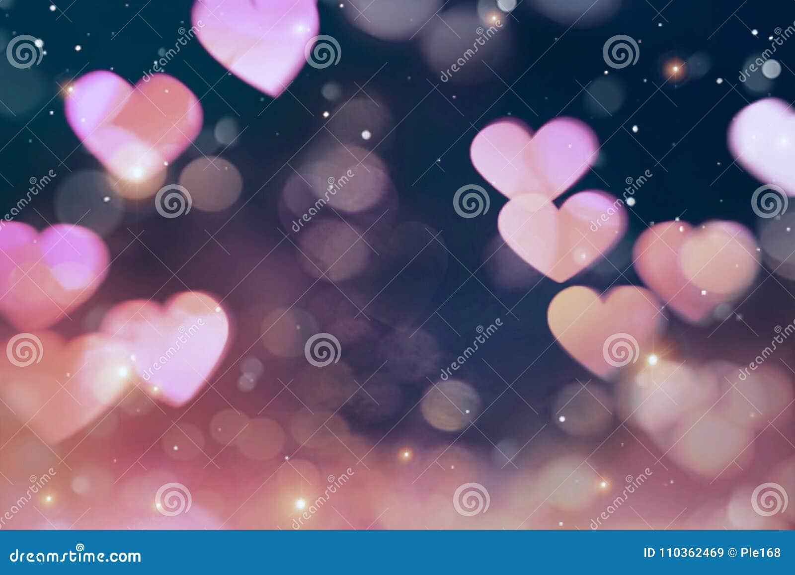 Corazones rosados borrosos extracto hermoso