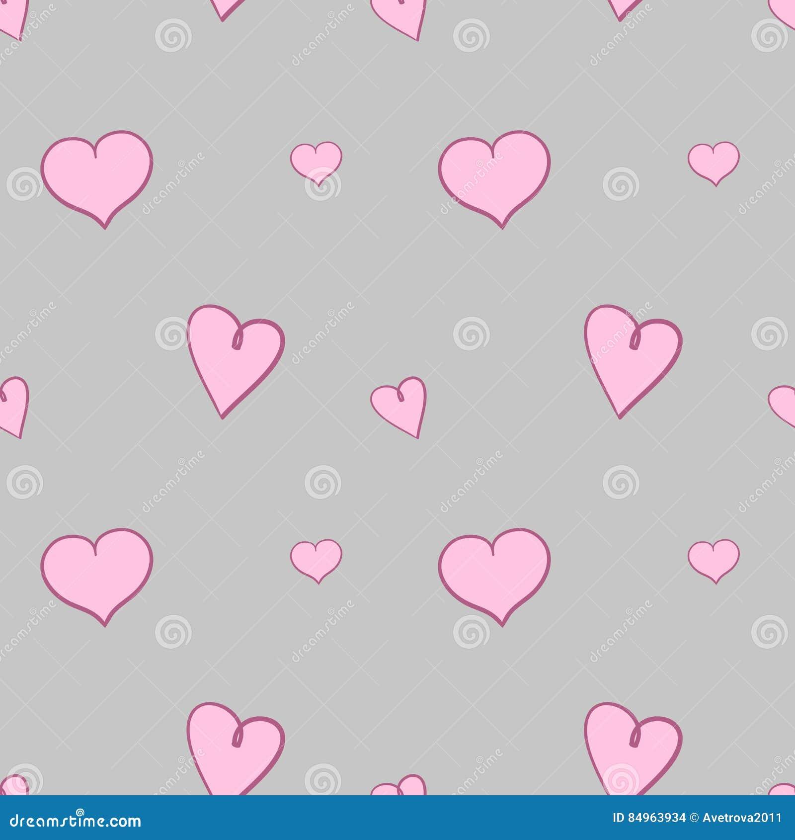 download corazones rosas claros en modelo inconstil del fondo gris ilustracin del vector ilustracin de